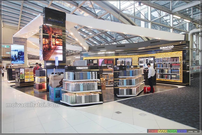 Các mẫu thiết kế gian hàng trong sân bay, trung tâm thương mại