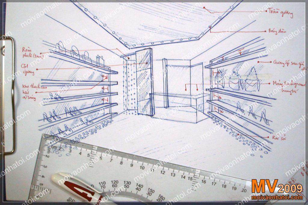 Módní obchod design