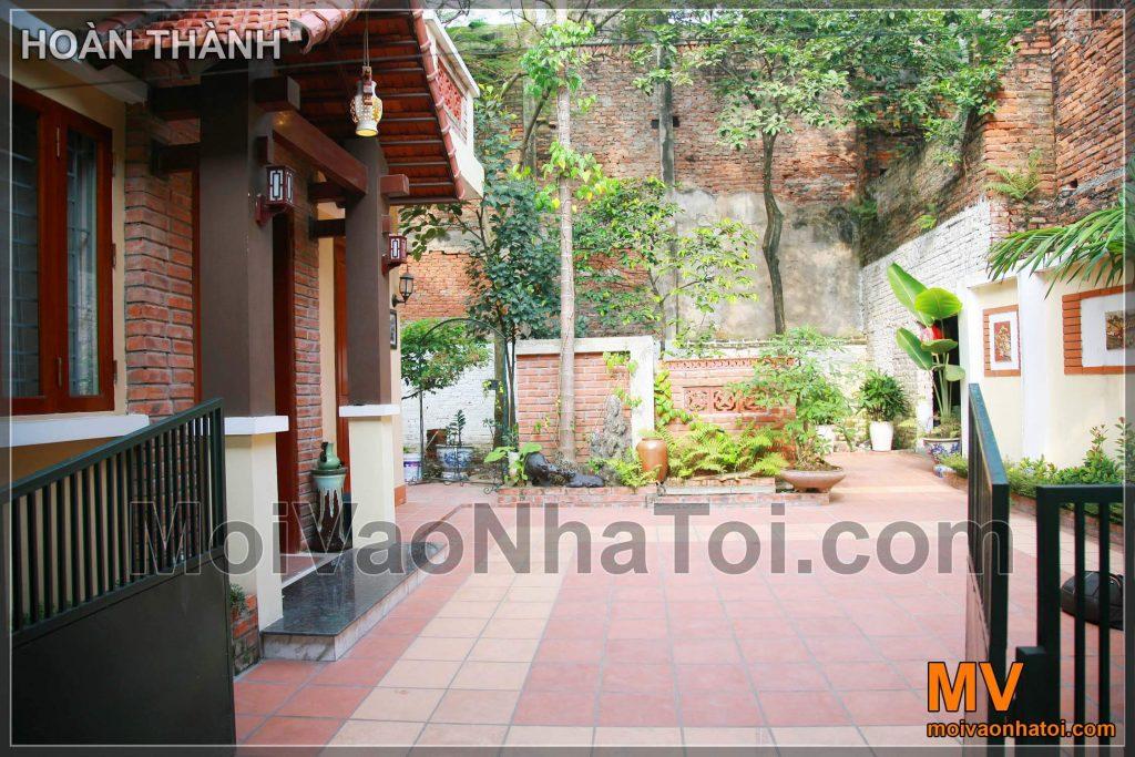 after renovating the garden villa