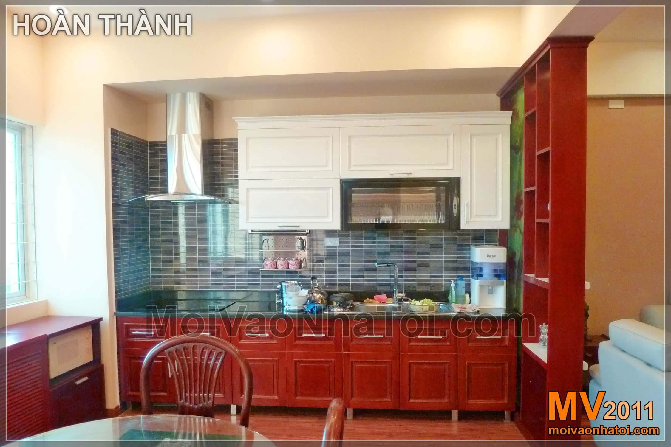 căn bếp tiện nghi hiện đại chung cư viglacerathi công