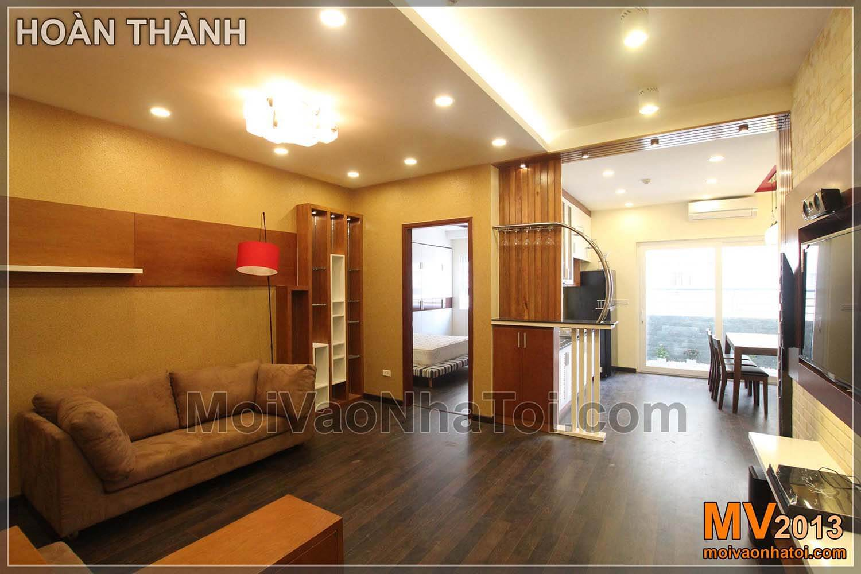 phòng khách sau hoàn thành chung cư Nam Đô Complex