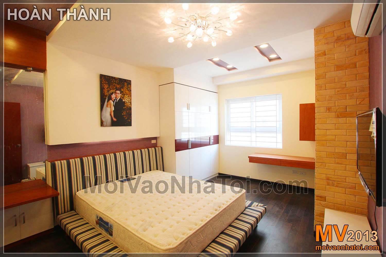 phòng ngủ sau hoàn thiện chung cư Nam Đô Complex