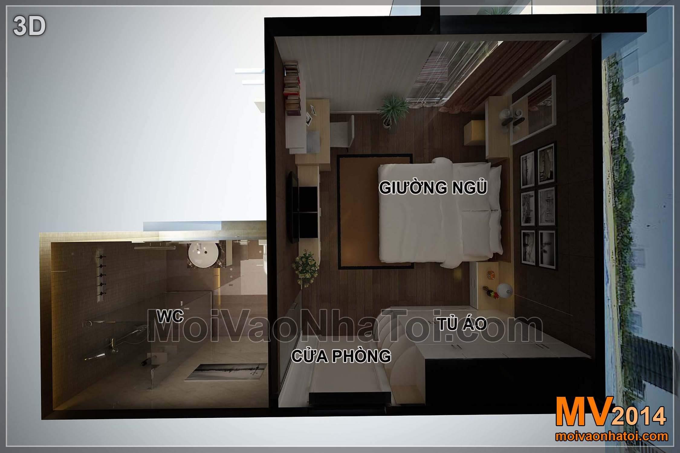 phối cảnh 3d phòng ngủ chung cư star city