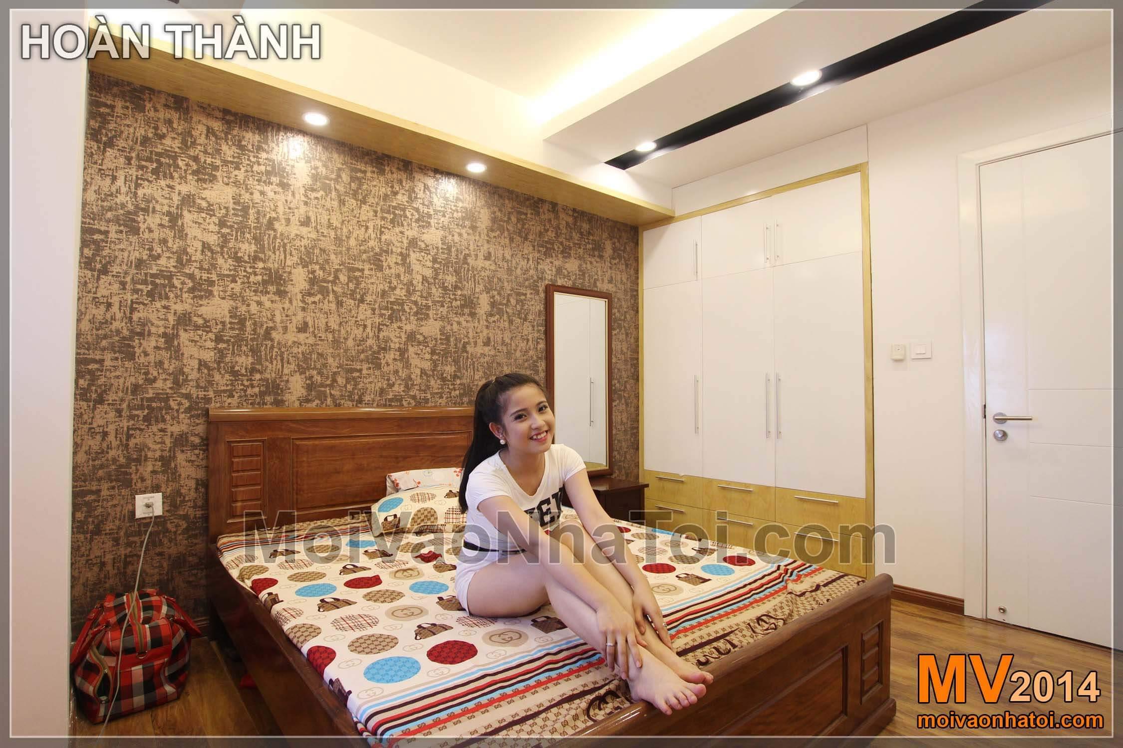 phòng ngủ con sau hoàn thiện chung cư star city