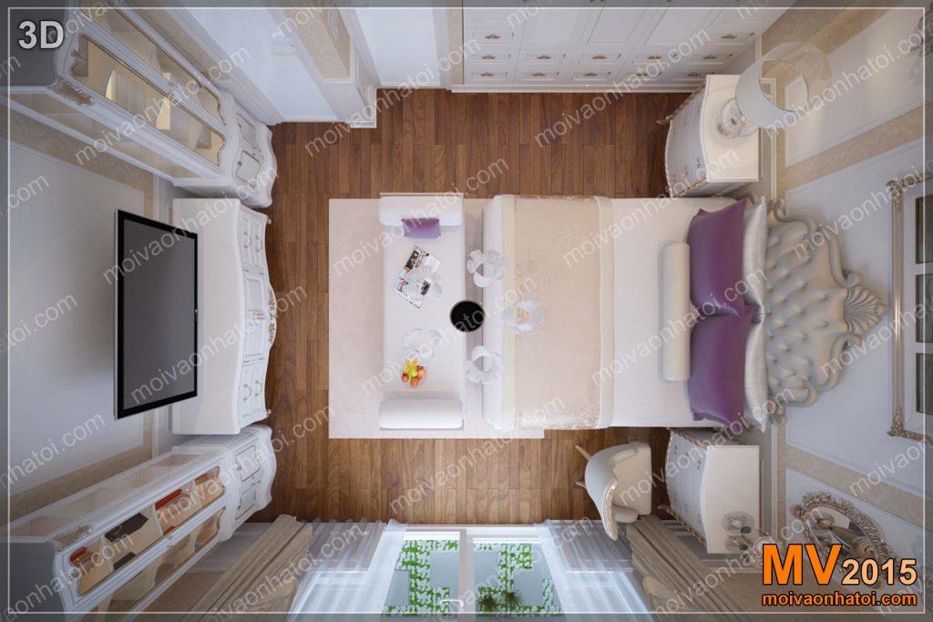 3d Elternschlafzimmer Stadthaus Interieur