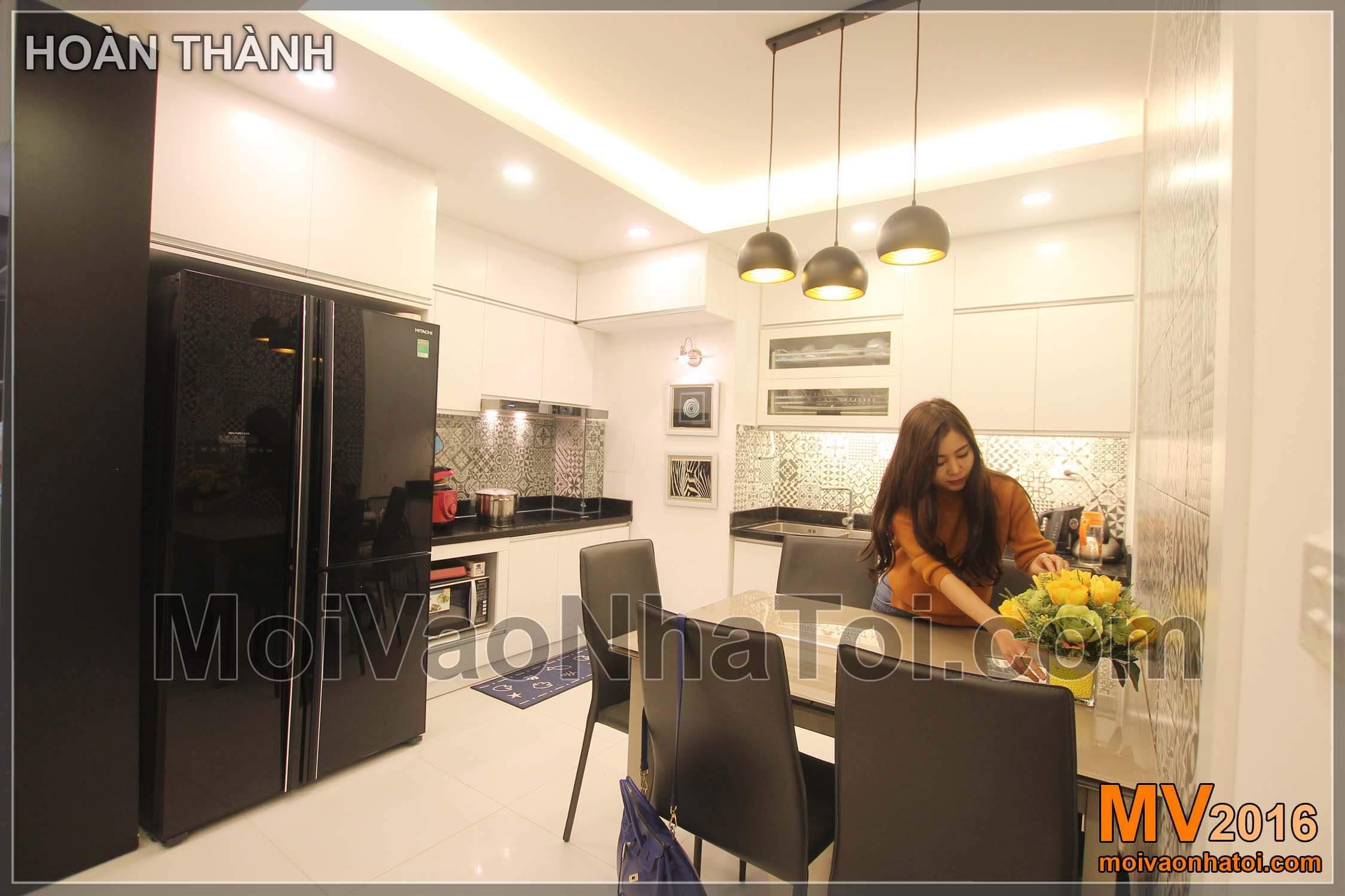 Phòng bếp chung cư Vinaconex .thiết kế chung cư 105m2