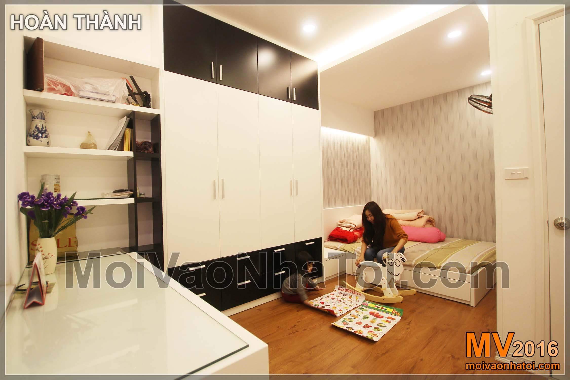 Phòng ngủ cho con chung cư chung cư Vinaconex 7.thiết kế chung cư 105m2