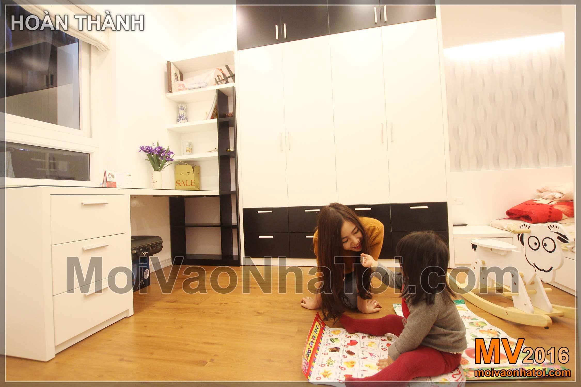 Phòng ngủ cho con chung cư chung cư Vinaconex 7. thiết kế chung cư 105m2