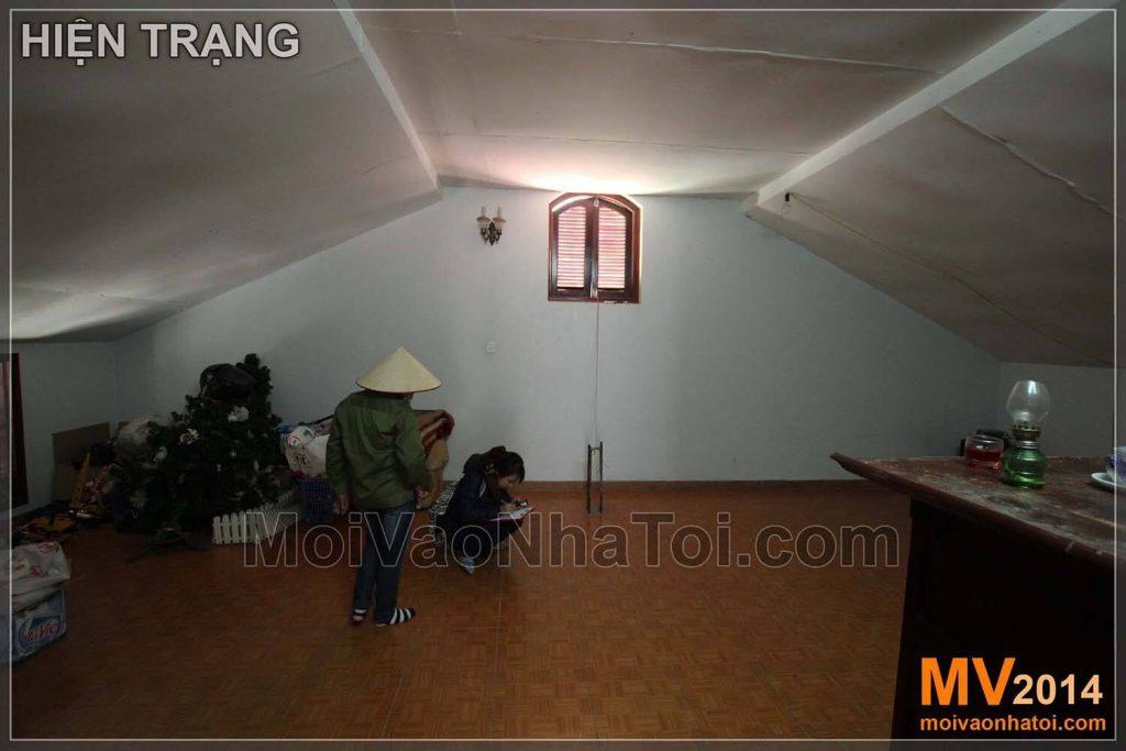 aktueller Stand der Dachkonstruktion des Altarraums