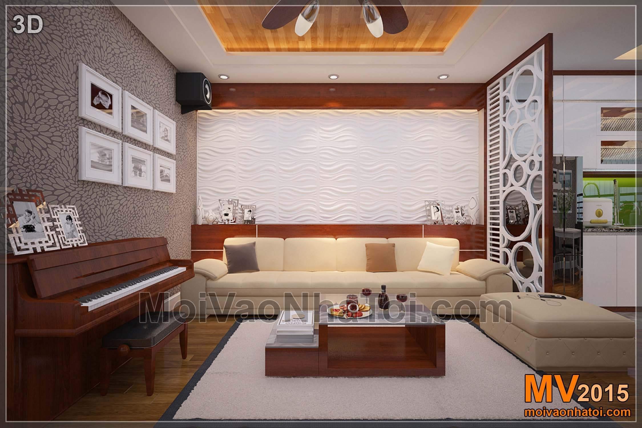 Mảng tường ốp 3D được thiết kế và lắp đặt hợp lý