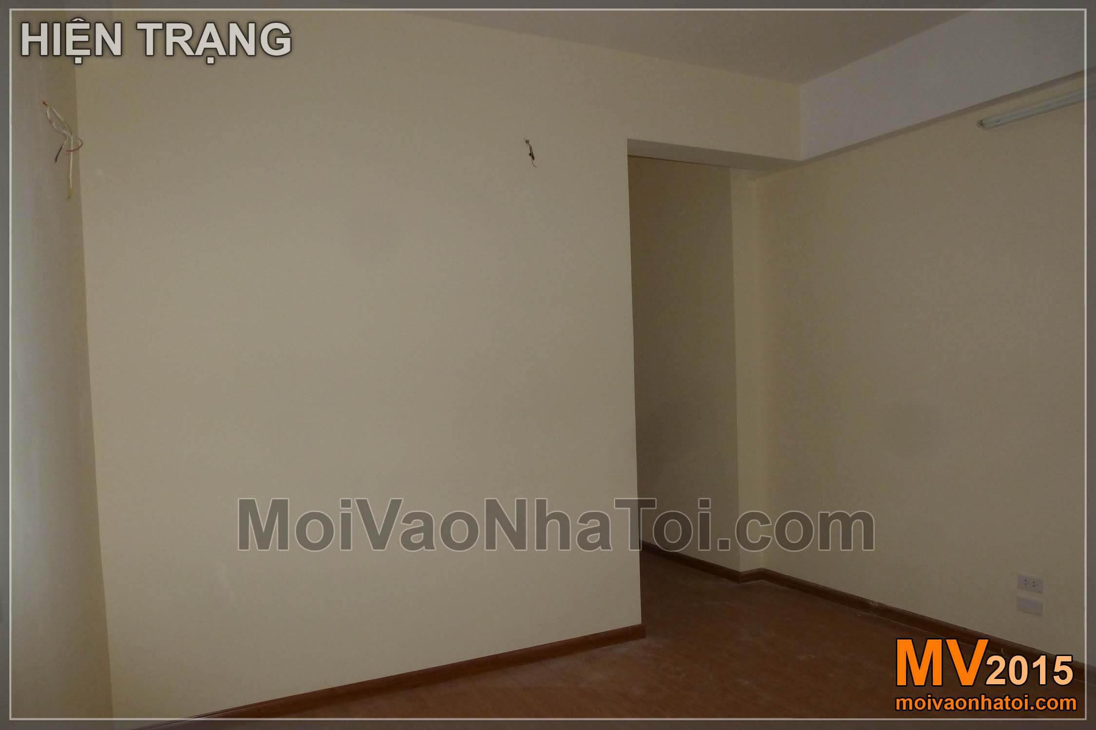 Hiện trạng và thi công phòng ngủ chung cư Nam Đô