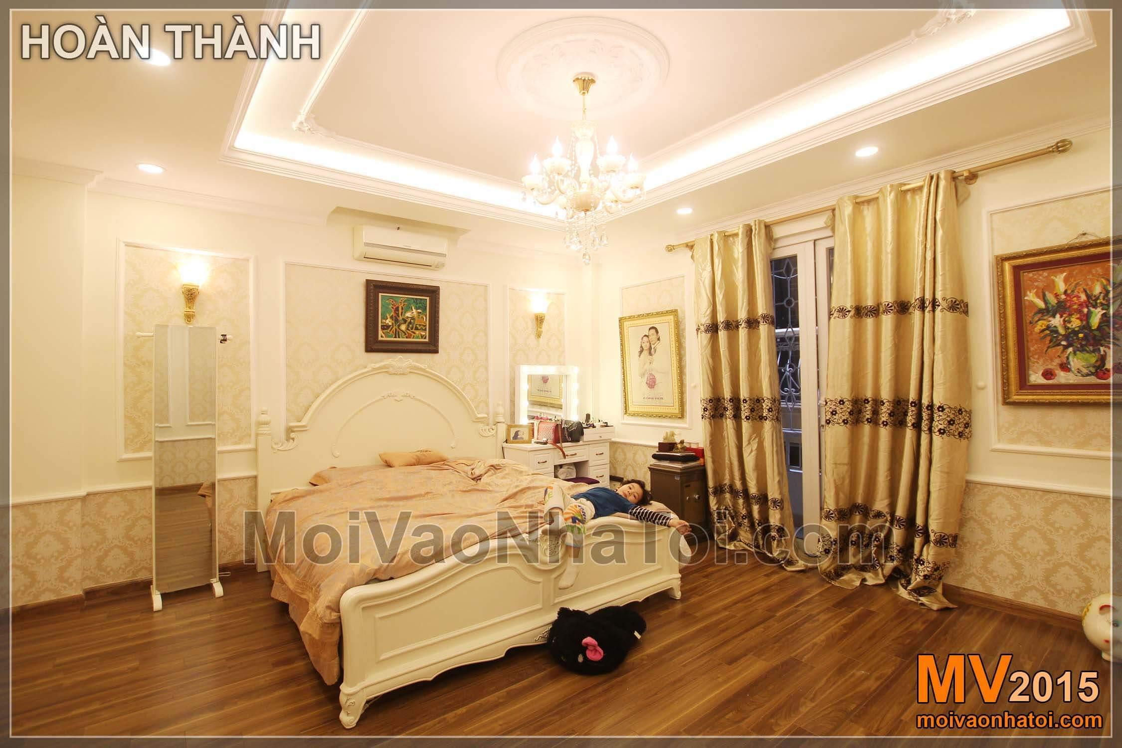 Phòng ngủ có không gian rộng rãi sau khi được thiết kế cải tạo