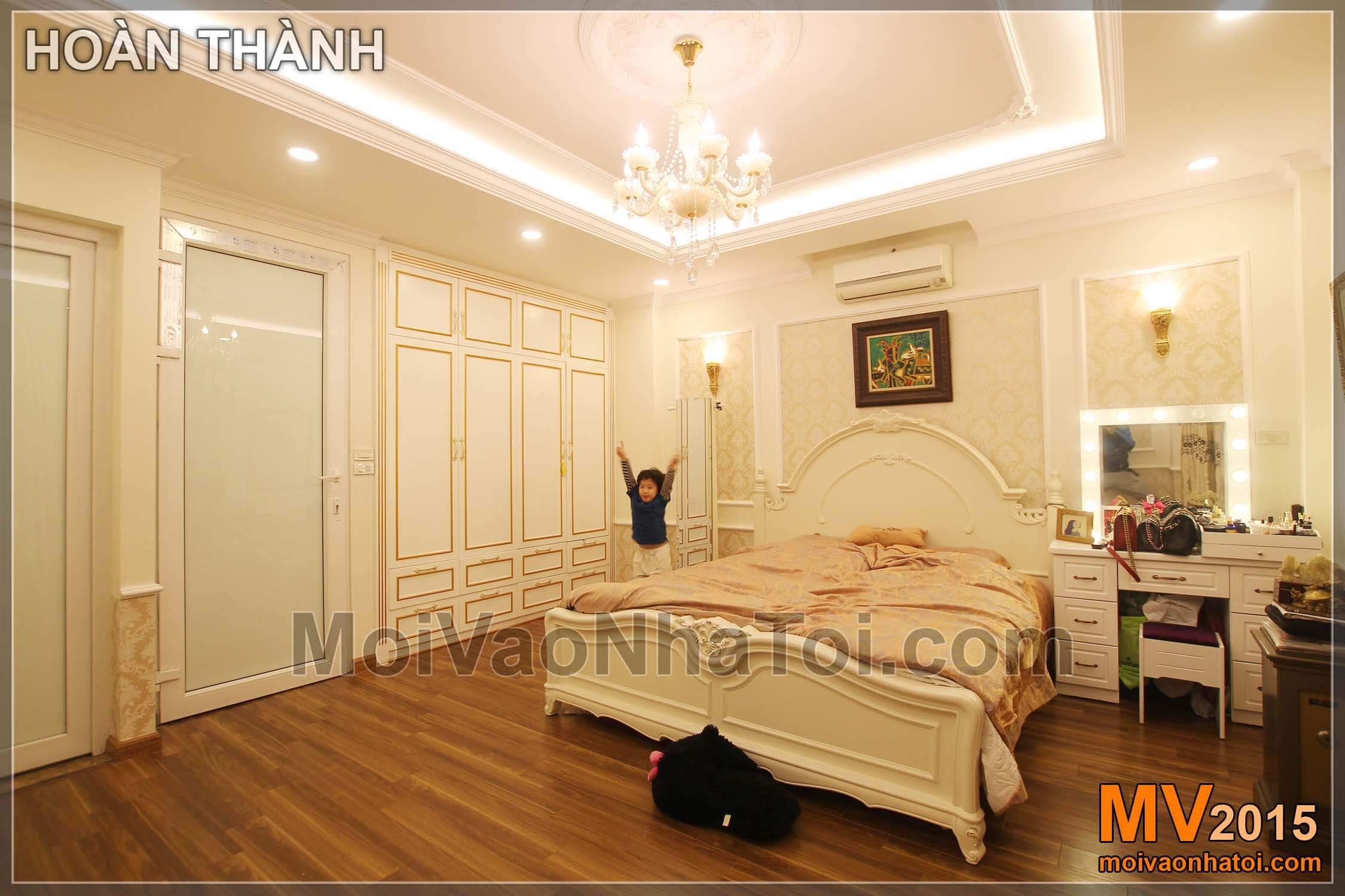 Nét cổ điển, quý phái trong nội thất phòng ngủ nhà phố 40m2