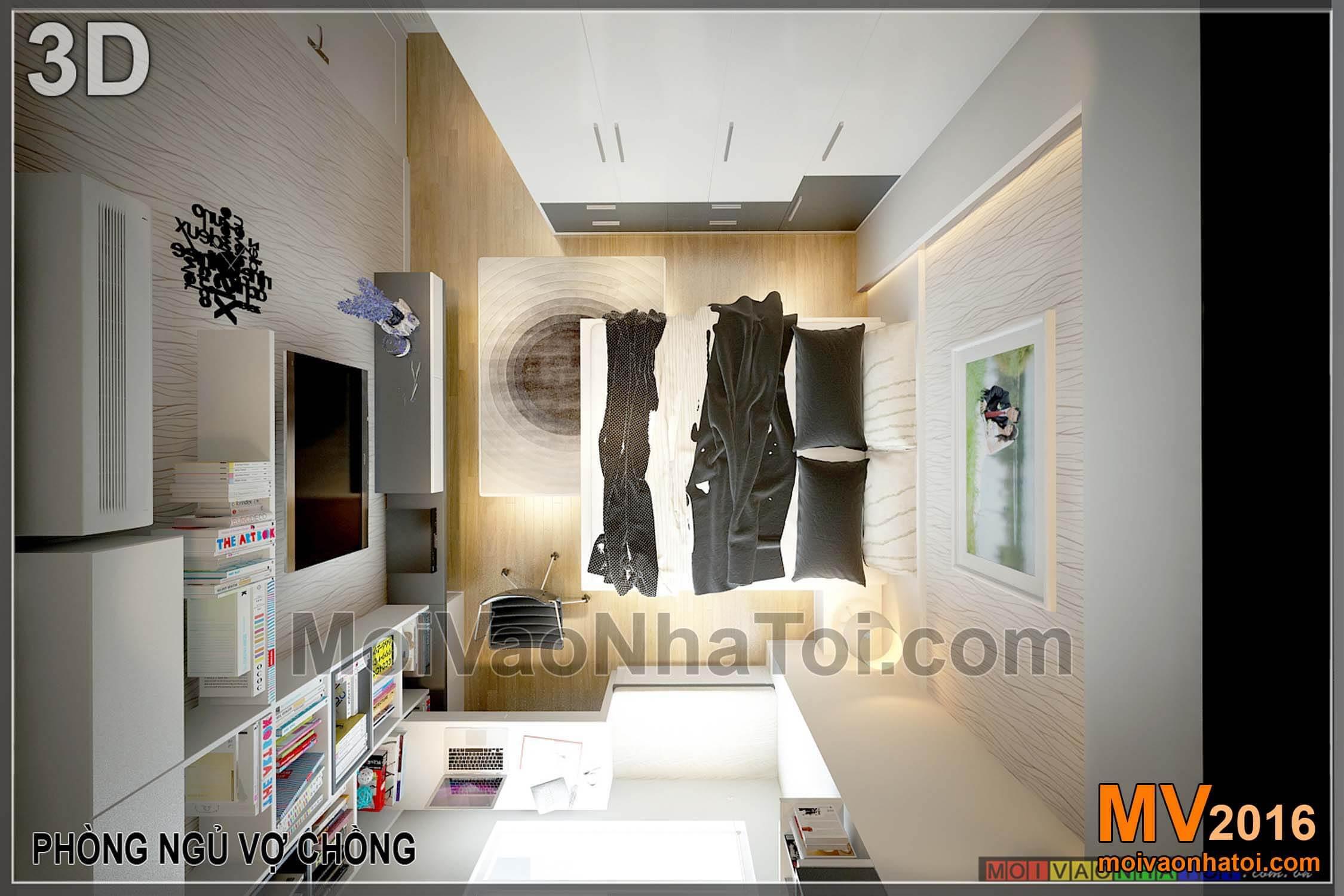 Phòng ngủ vợ chồng chung cư Vinaconex