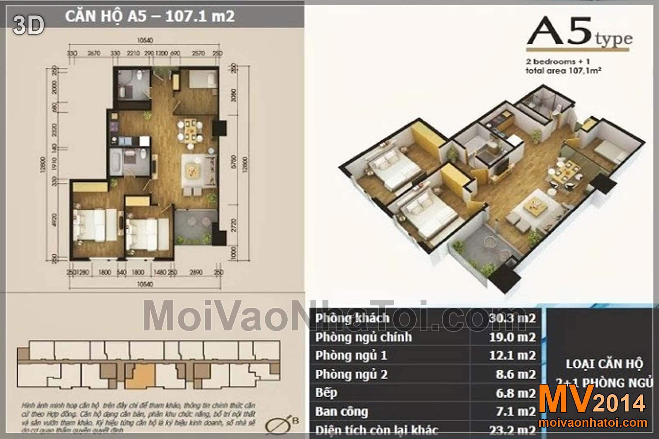Mặt bằng chung cư Lê Văn Lương Star City căn hộ 107.1m2