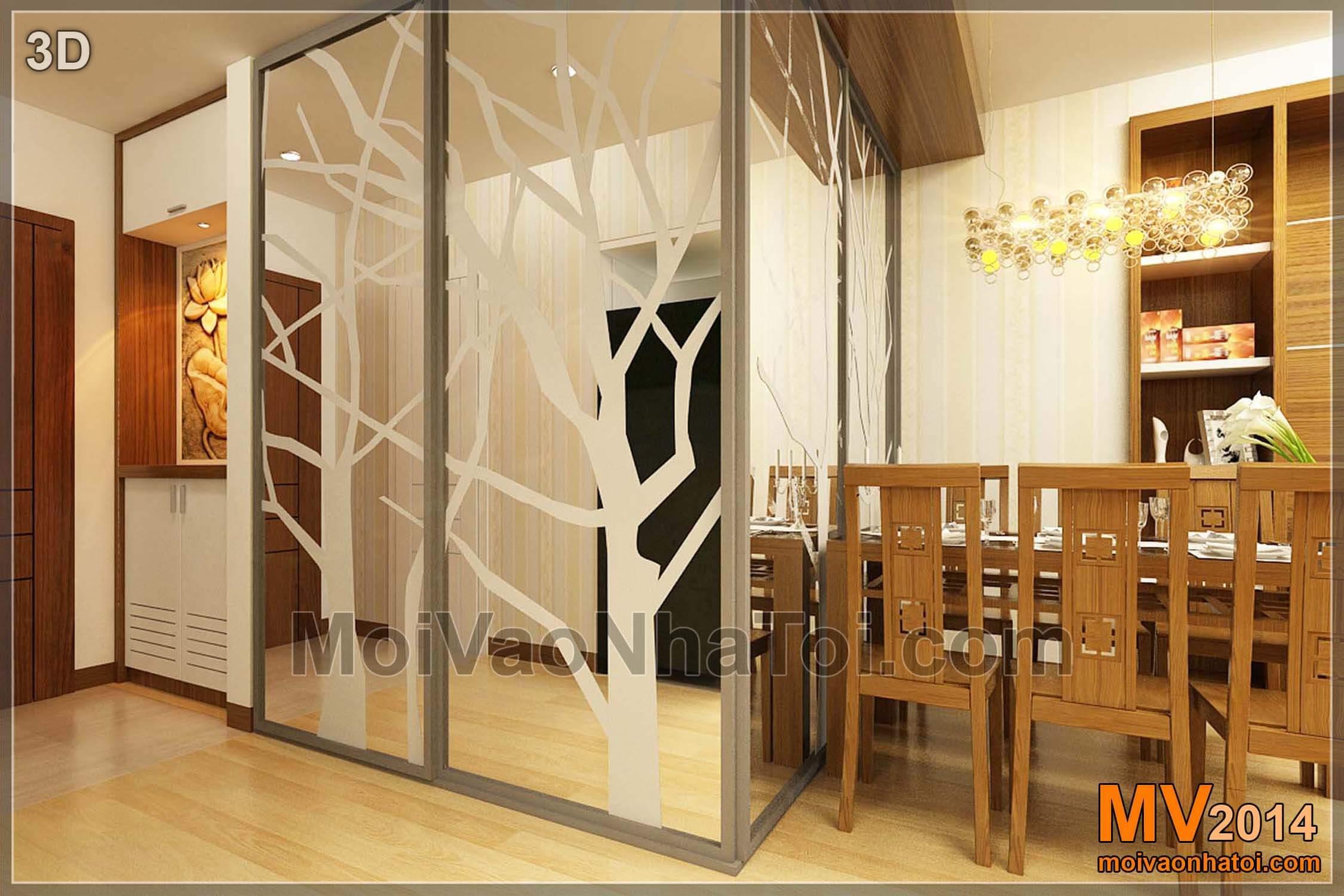 Góc cơi nới thêm phòng ngủ con - Thiết kế 3D
