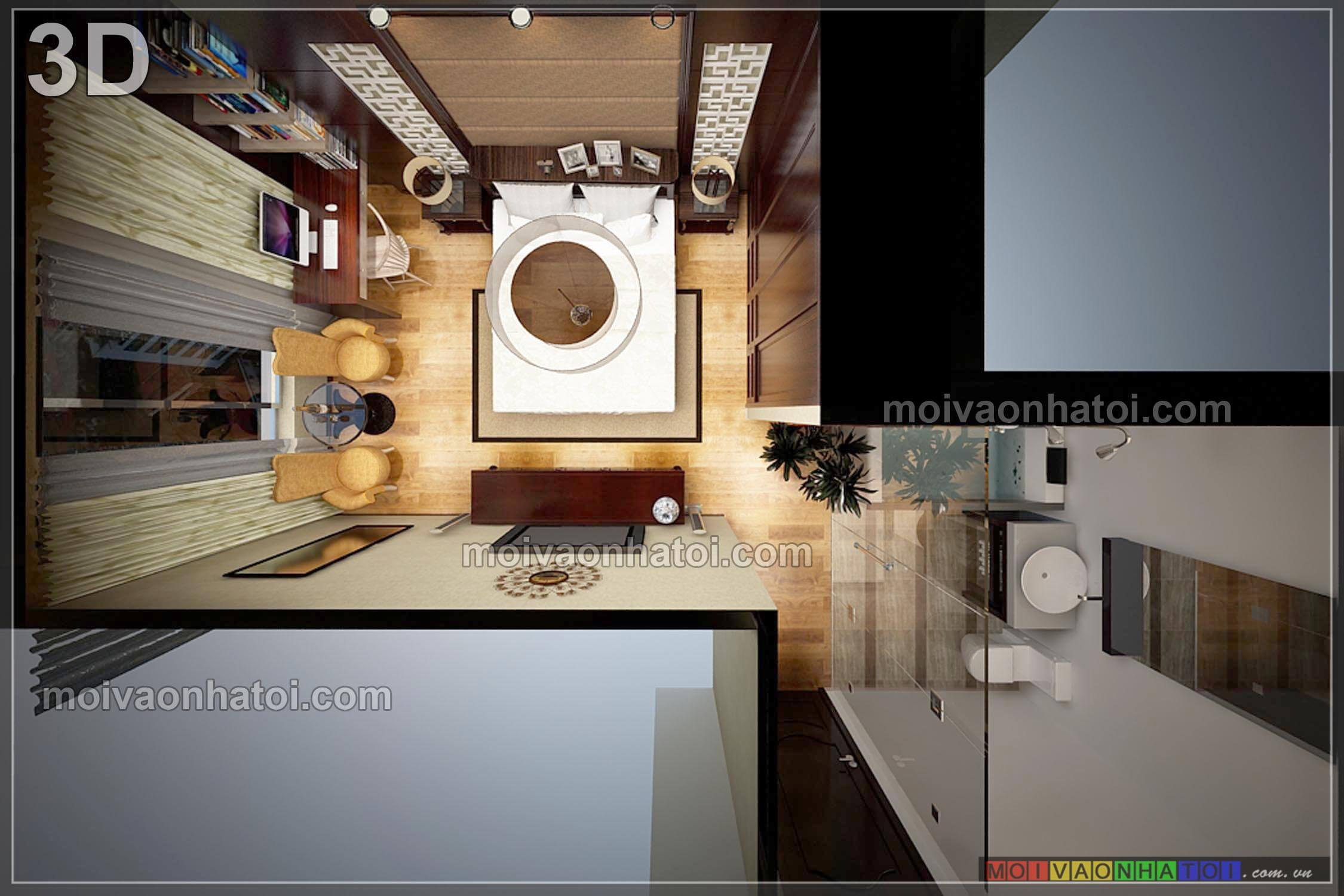 Mặt bằng thiết kế phòng ngủ master