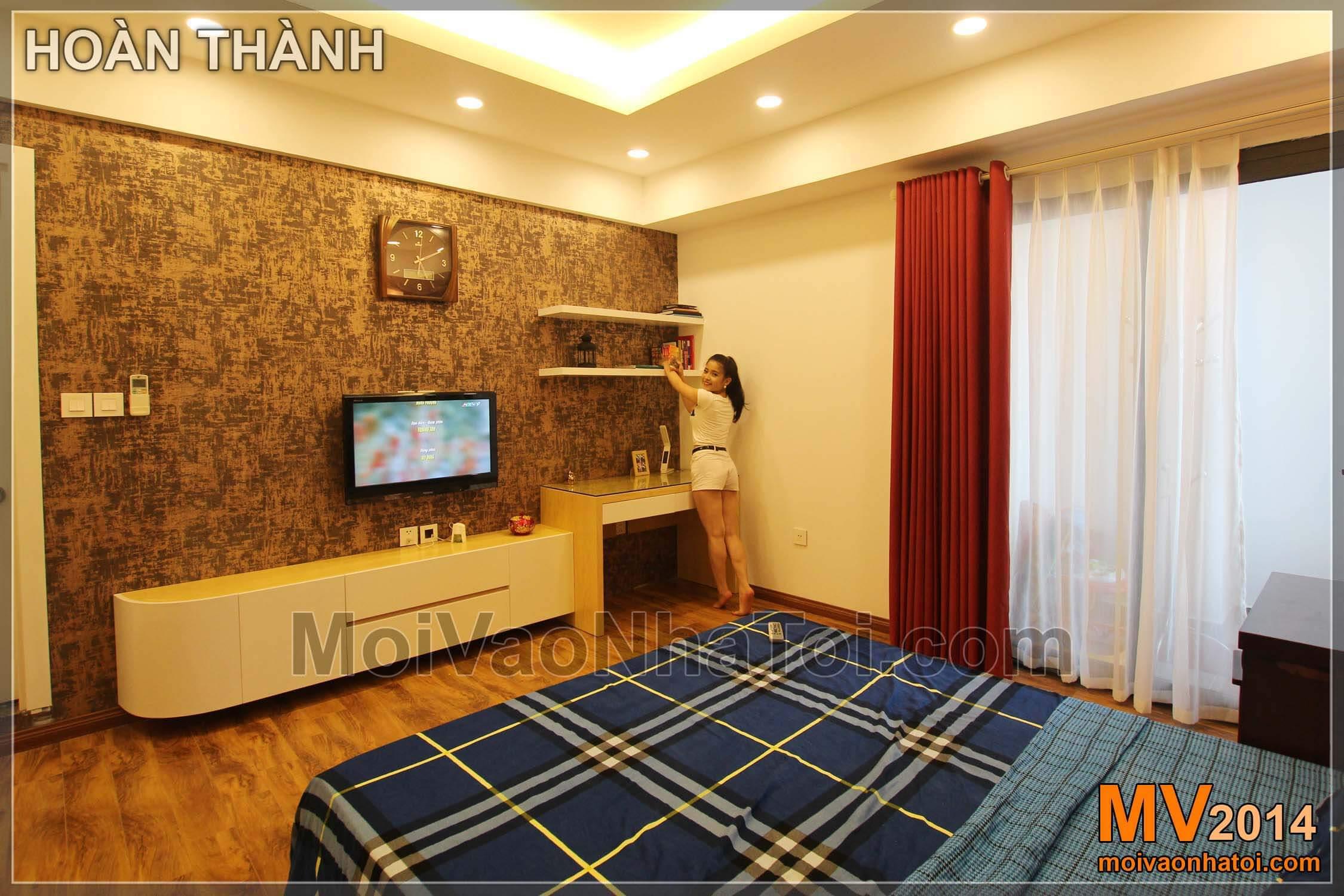 Chung cư Star City đồ gỗ trong phòng ngủ bố mẹ