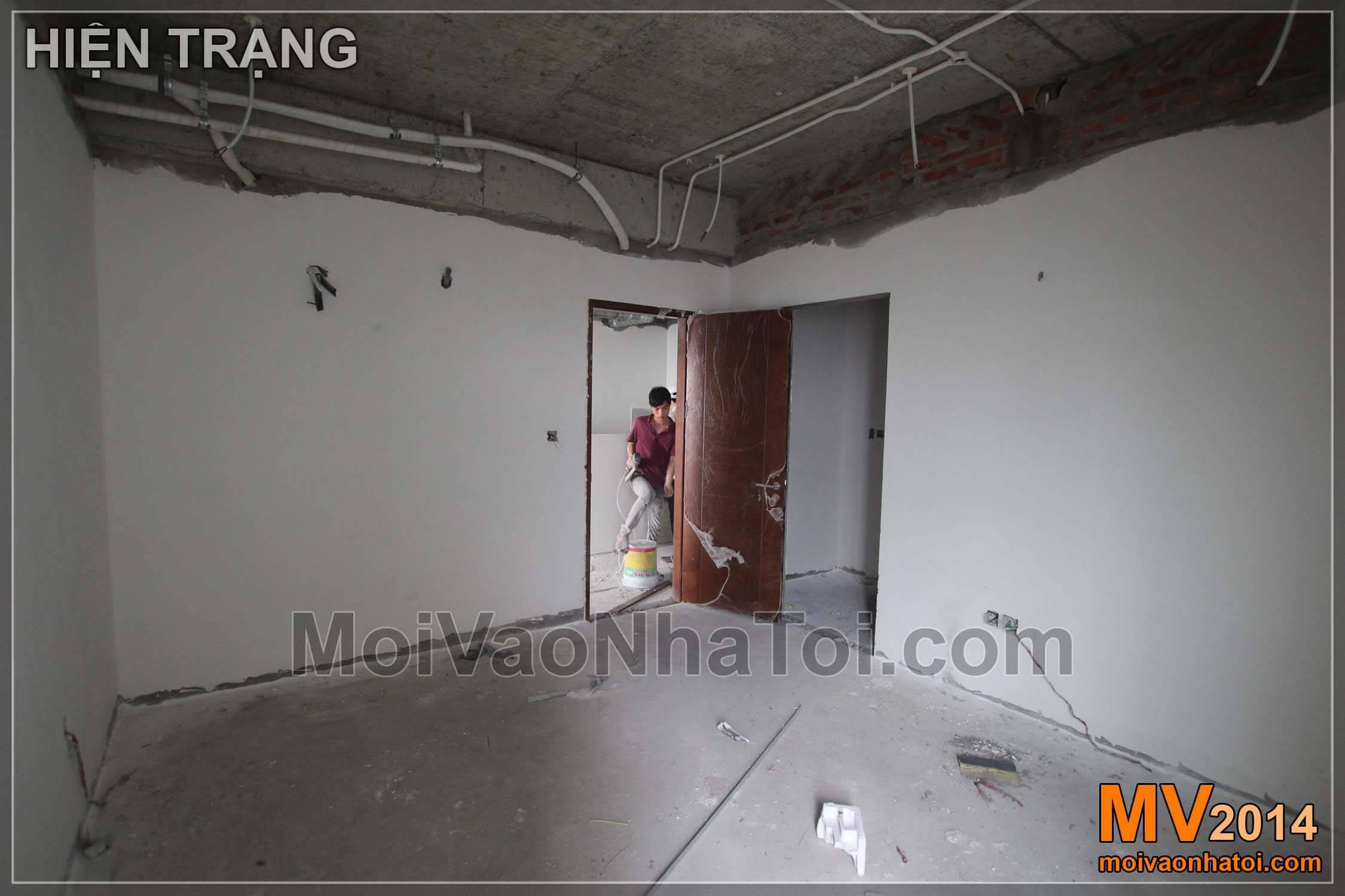 Phòng ngủ Khi thi công
