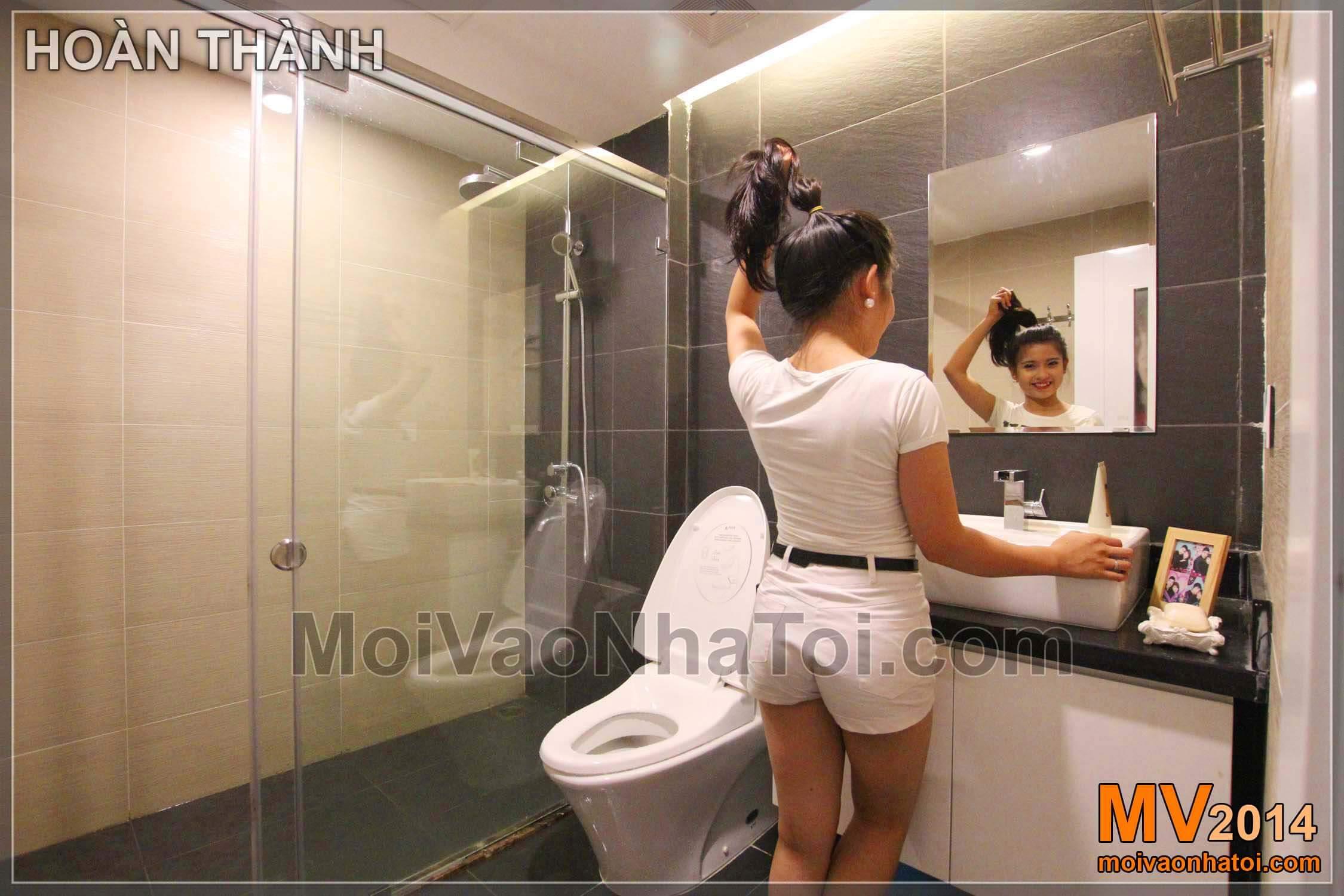 Chung cư Star City Nội thất phòng WC khi hoàn thành