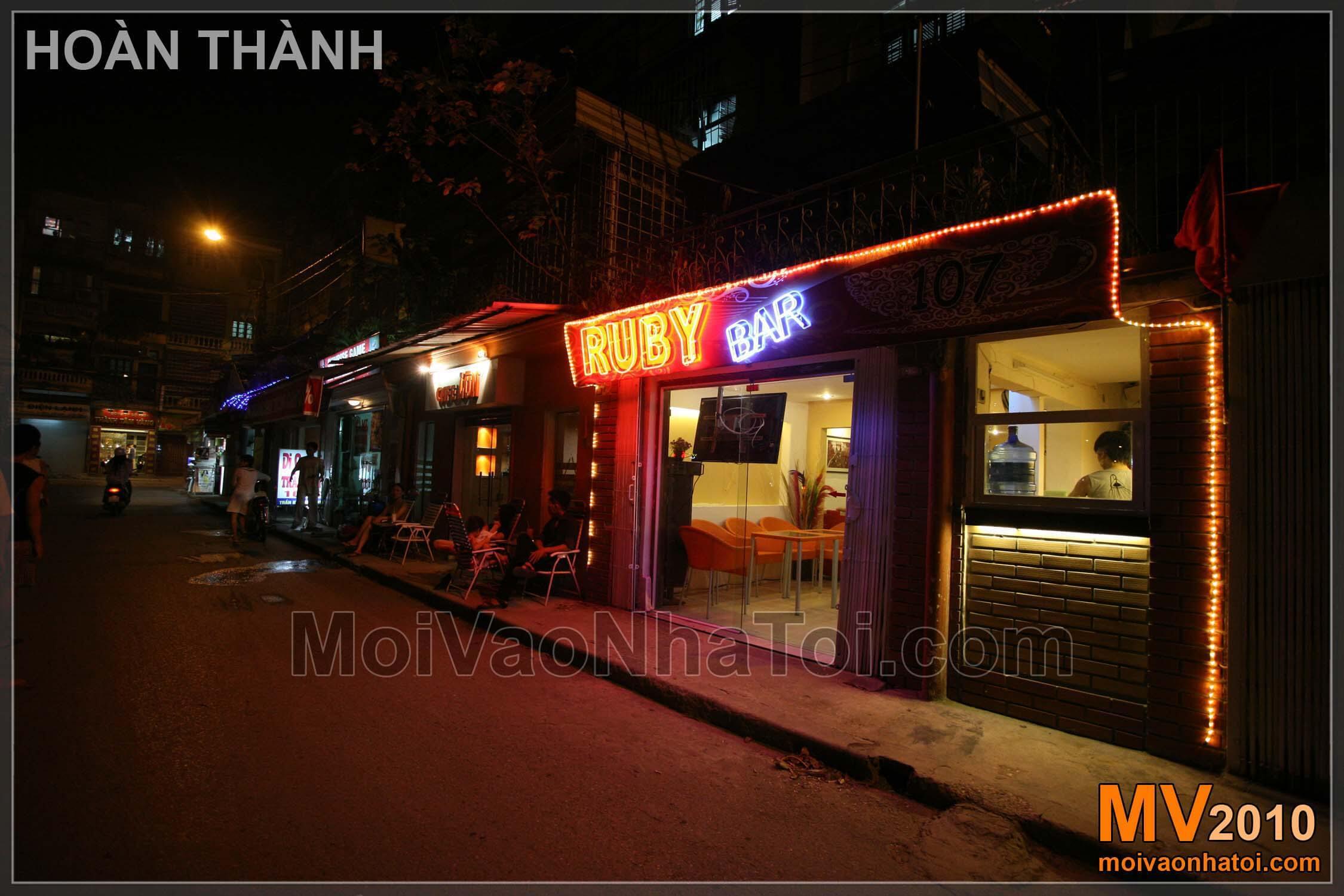 Thiết kế quán cafe Ruby 60m2 nội thất đẹp, tiết kiệm chi phí thi công