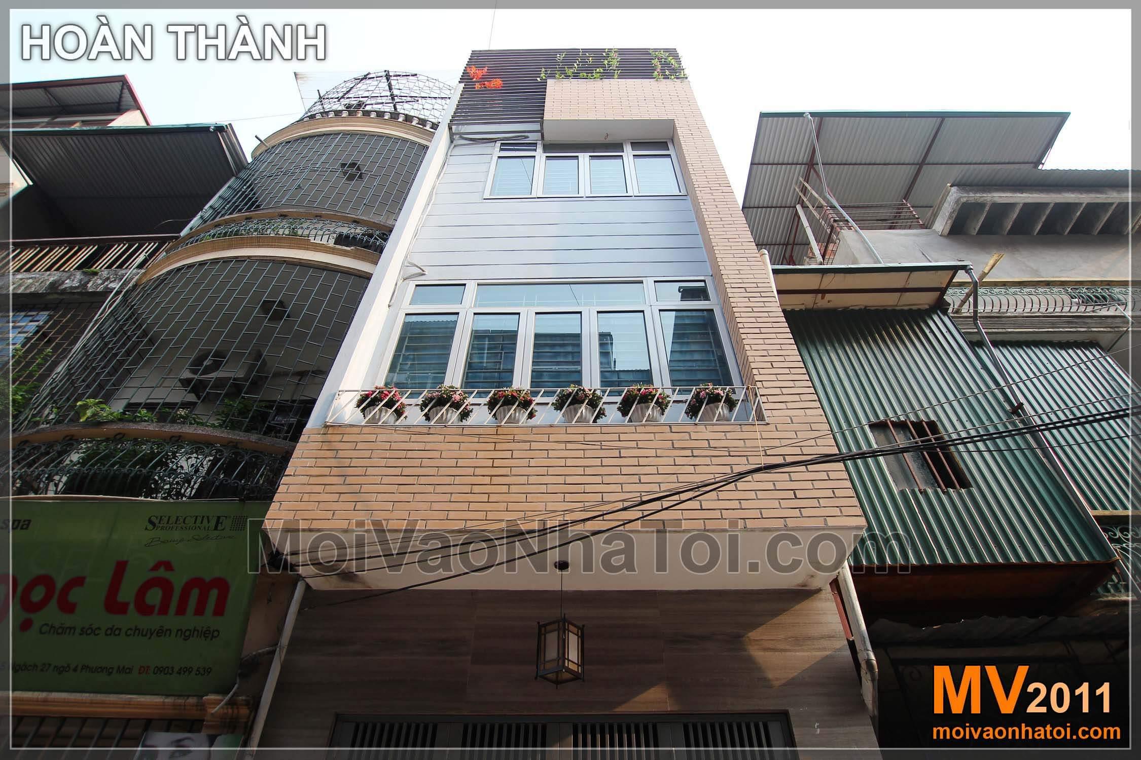 Cải tạo mặt tiền nhà phố đẹp 4 tầng x 80m2 với mặt tiền phong cách hiện đại