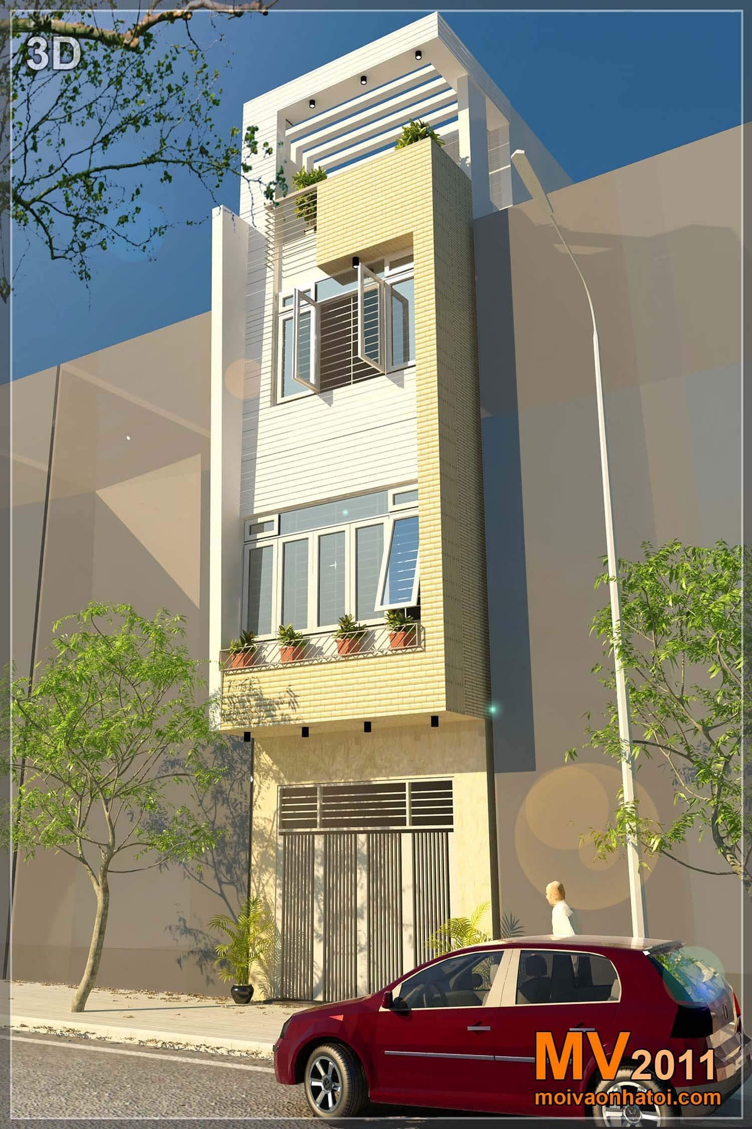 Hình ảnh 3D Thiết kế Nhà phố