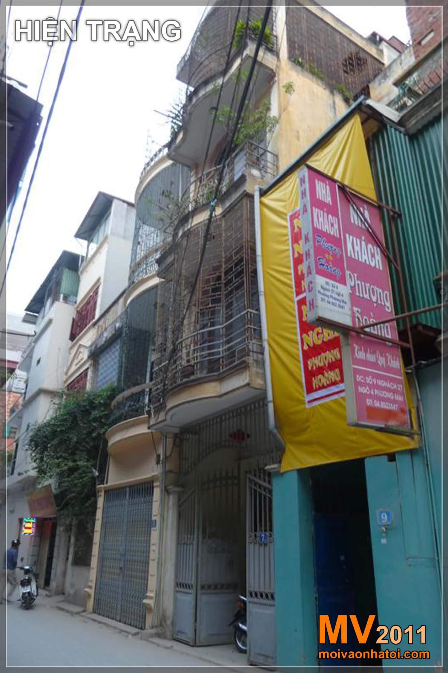 Hình ảnh nhà phố từ cũ trước khi cải tạo và mới