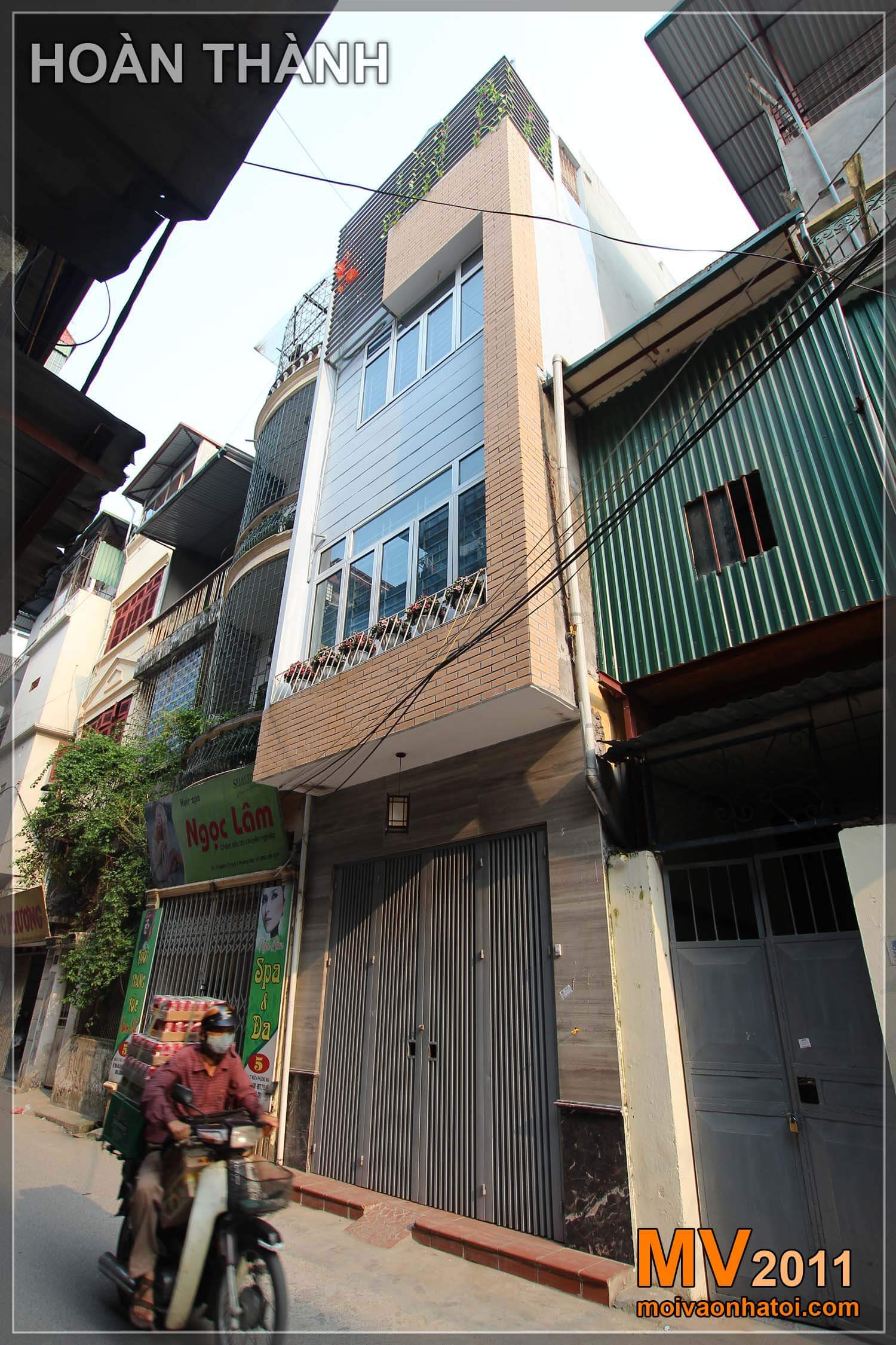 thiếHình ảnh nhà phố từ cũ trước khi cải tạo và mới