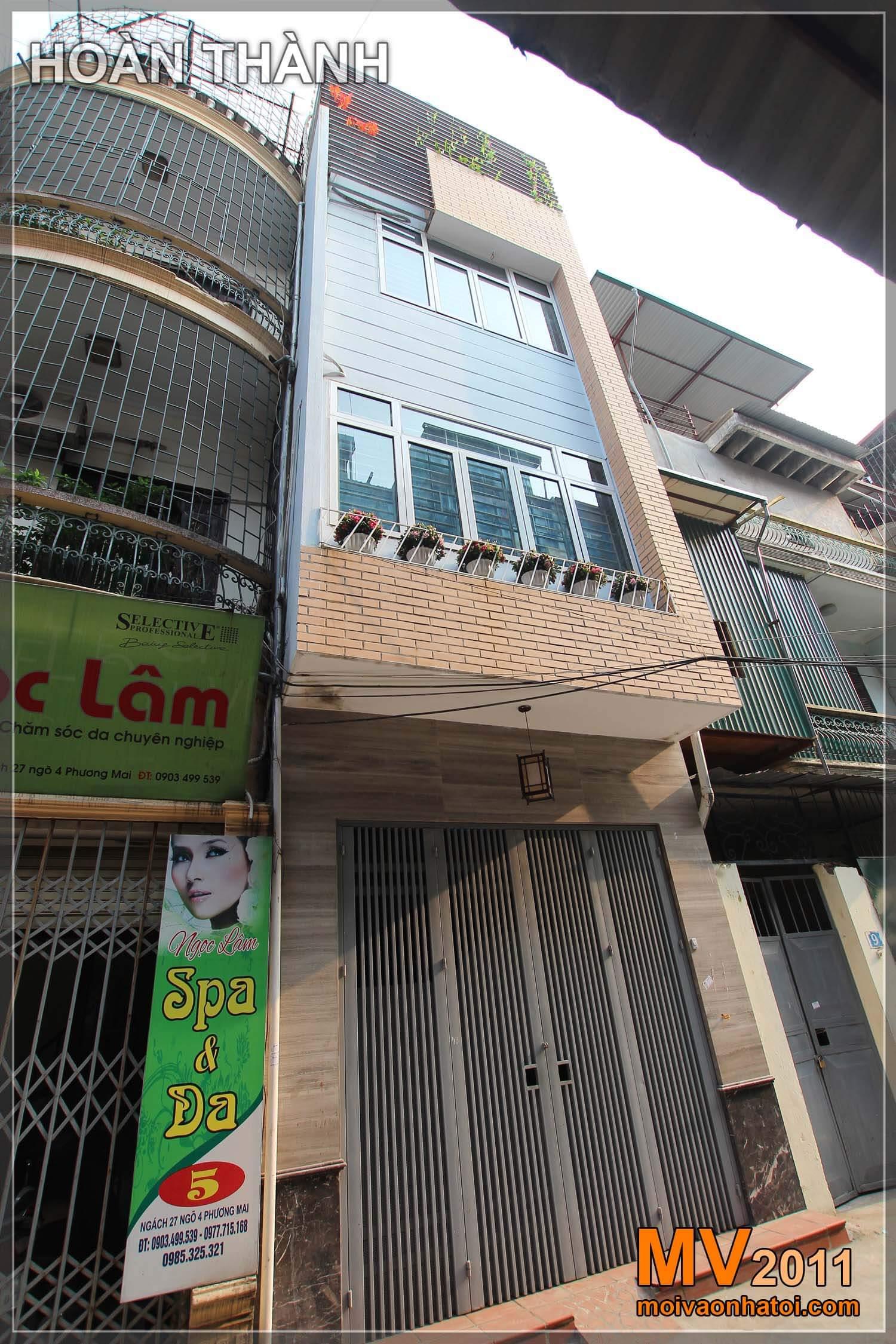 Nhà phố cũ và mới sửa