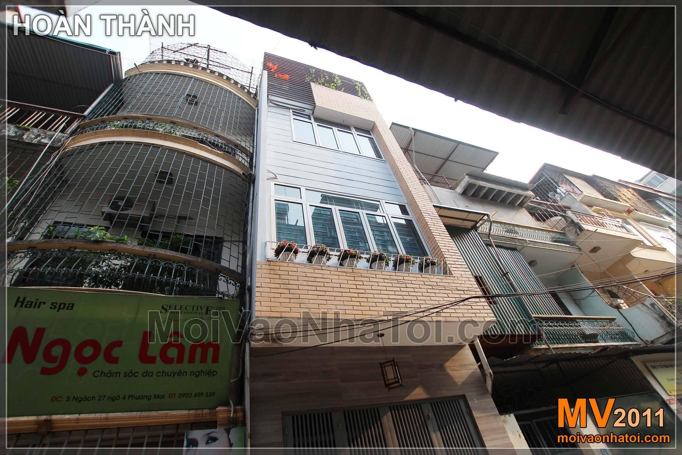Tổng thể nhà phố 4 tầng sau khi thiết kế và thi công