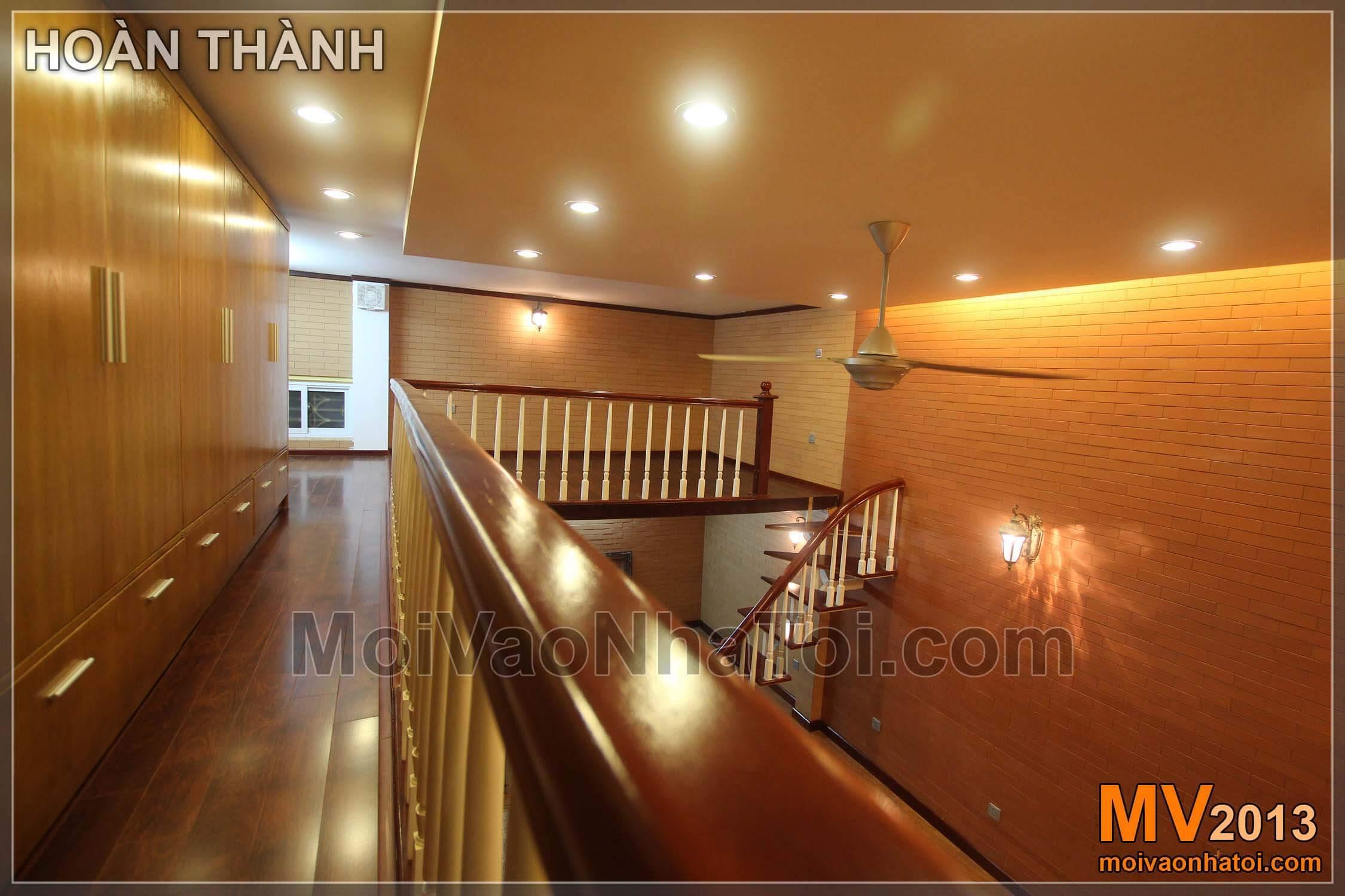 Thiết kế phòng khách có gác xép 26m2 phố cổ Hàng Đào