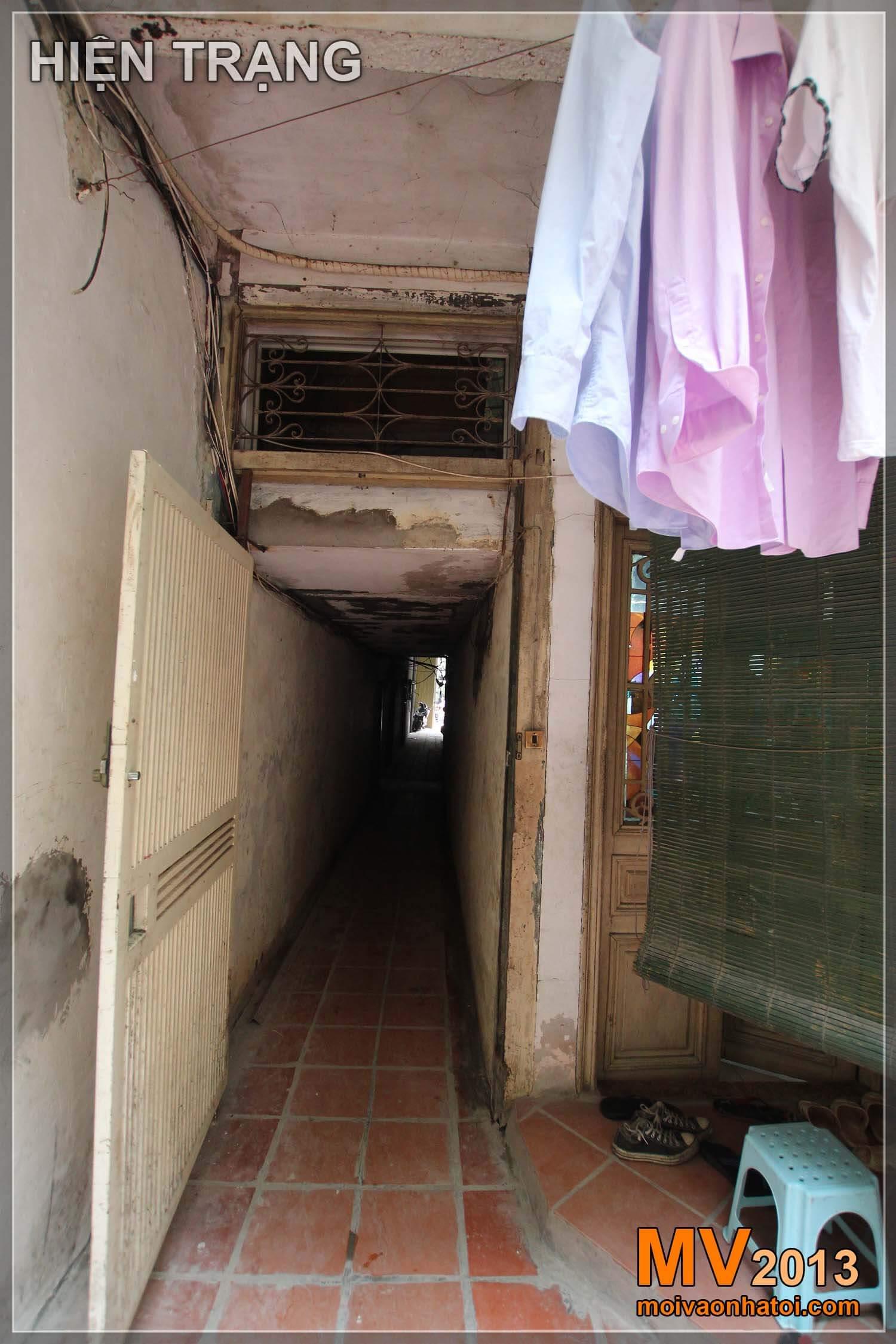 Hiện trạng căn nhà trong ngõ phố cổ Hàng Đào