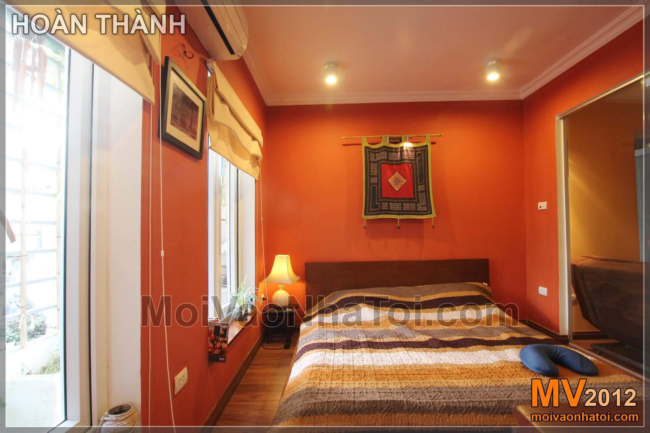 Phòng ngủ đẹp - Một góc đầu giường - Trước và sau khi cải tạo nhà tập thể