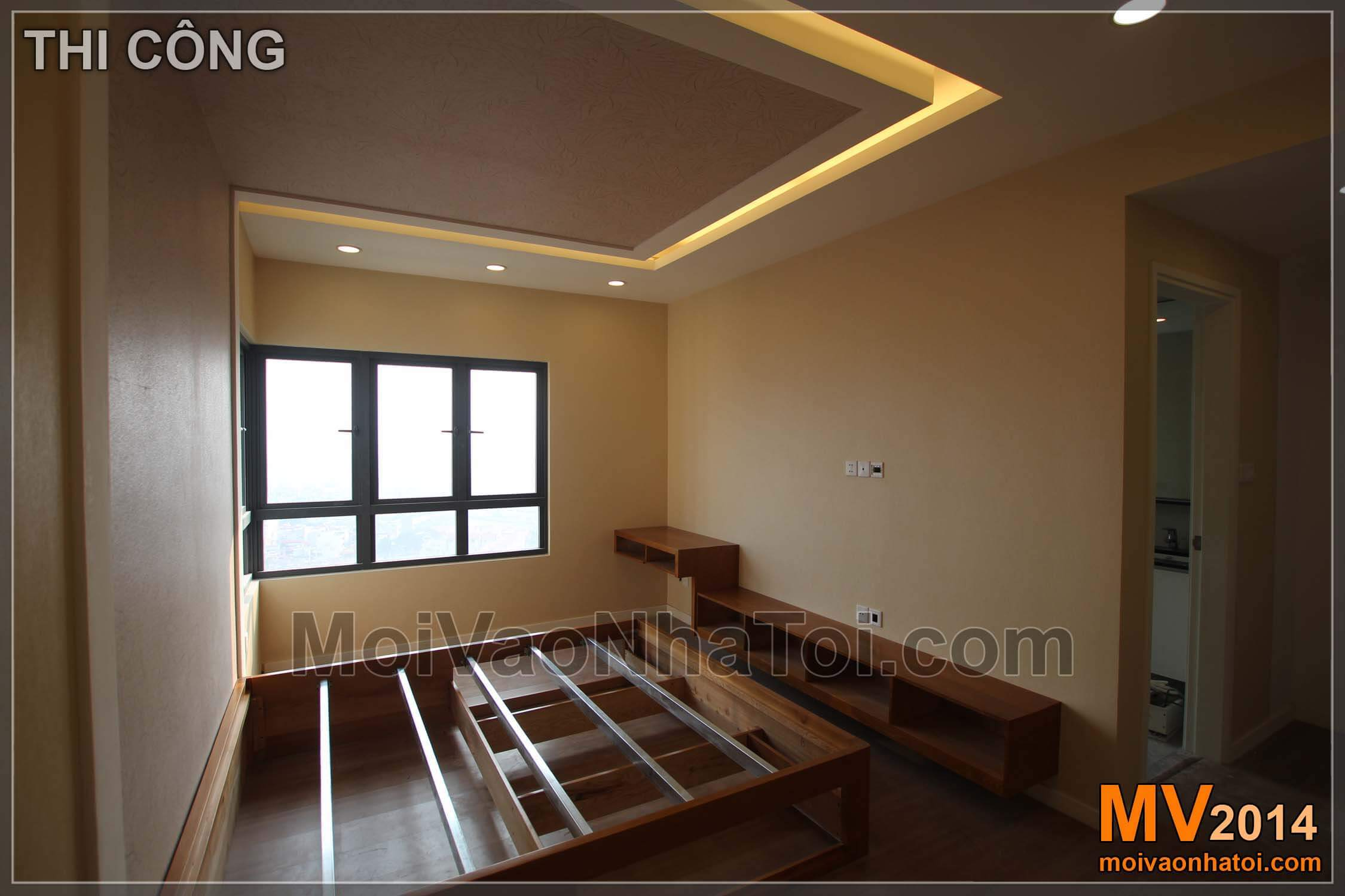 Lắp đặt đồ gỗ nội thất phòng ngủ bố mẹ master