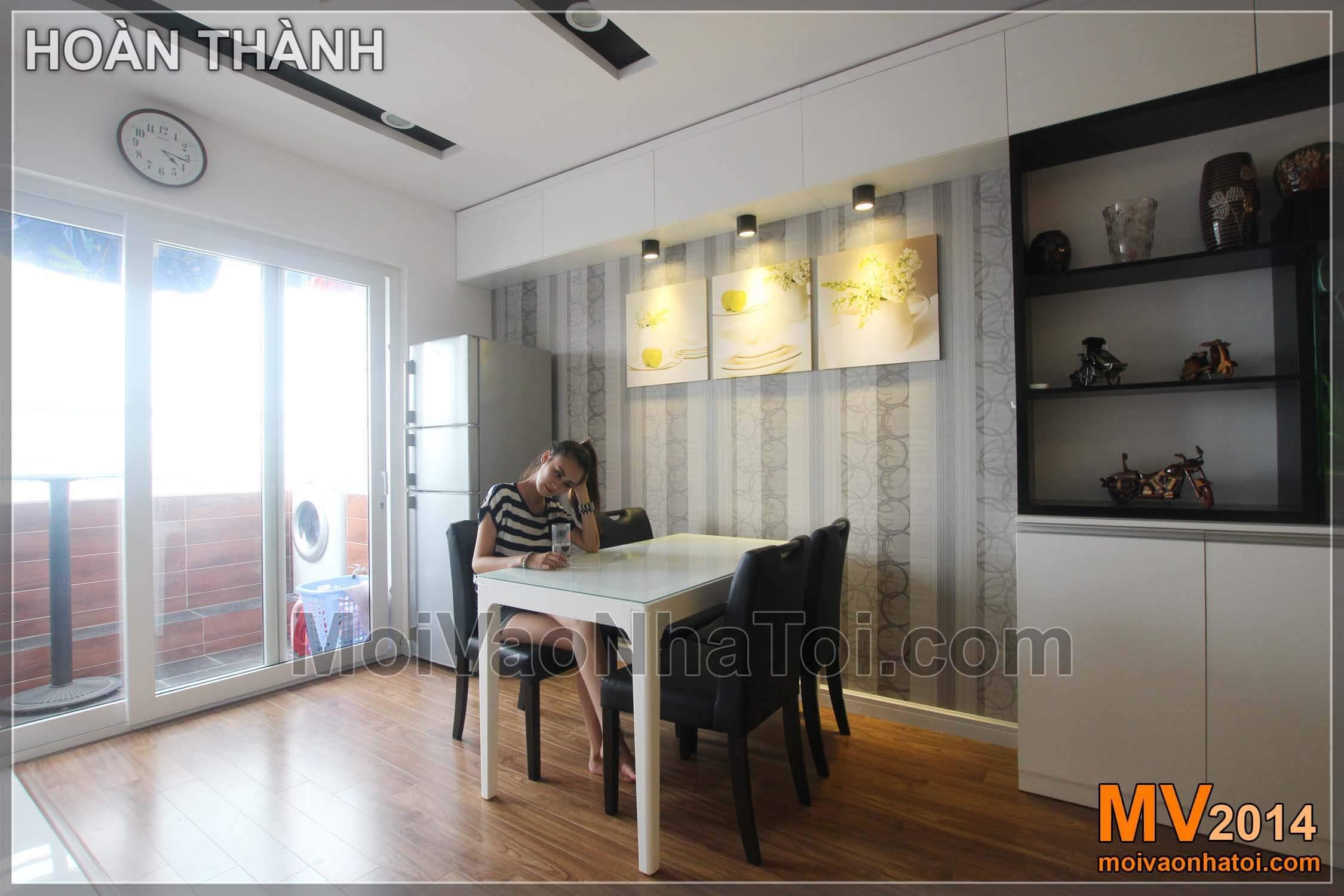 Chung cư Nam Đô Complex Phòng ăn và các mảng tường, tủ trang trí