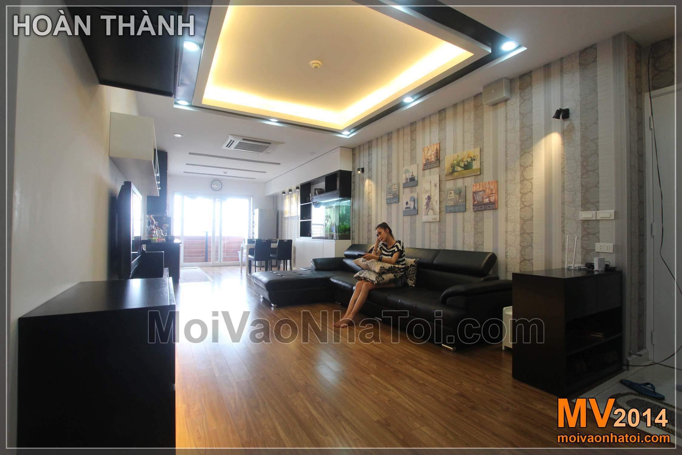 Phòng khách chung cư Nam Đô Complex sau khi hoàn thiện