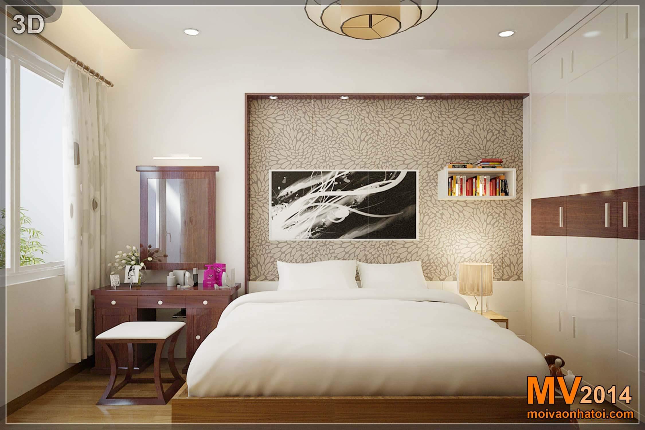 Thiết kế 3D phòng ngủ