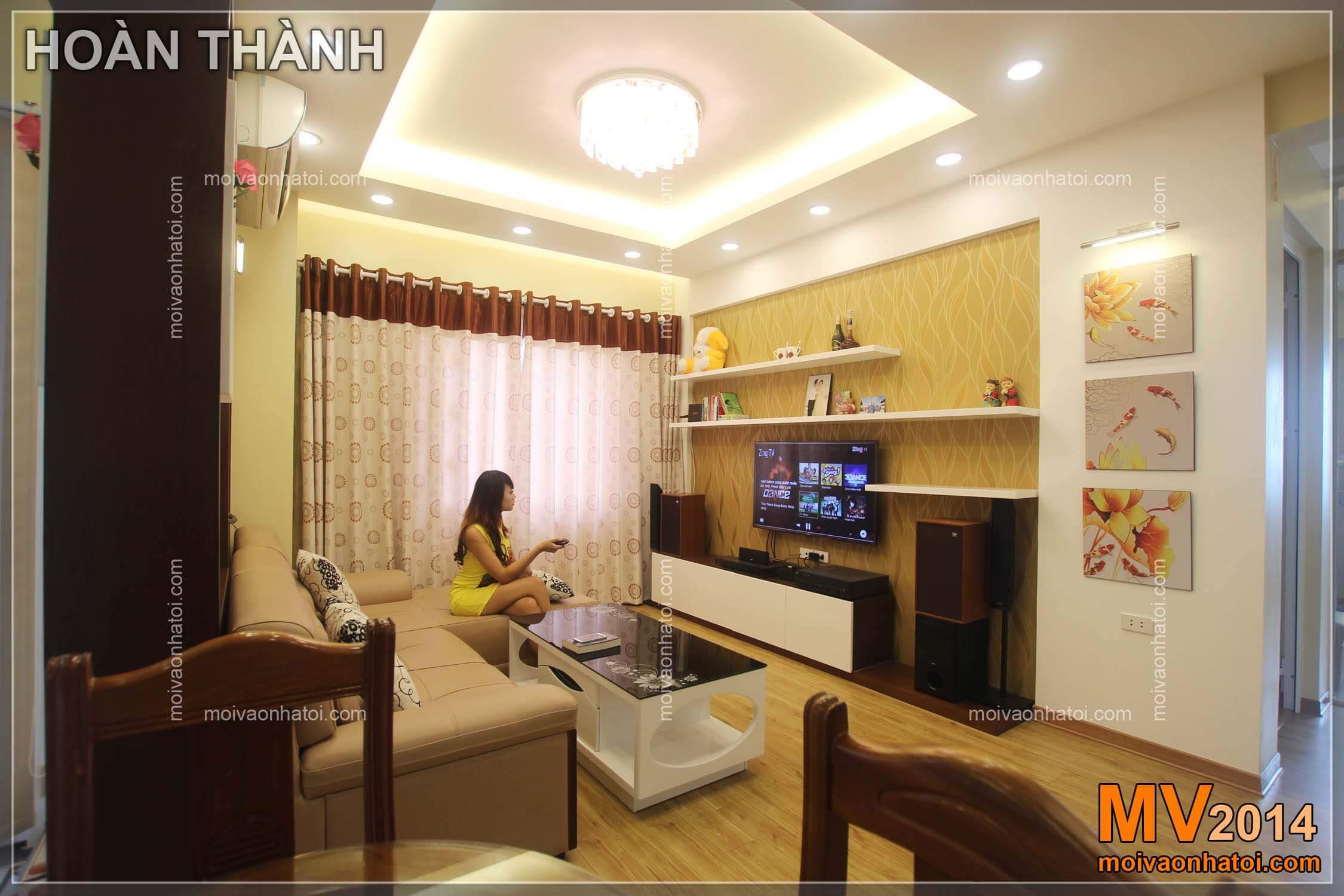 Thiết kế nội thất chung cư Việt Hưng khi thi công hoàn thành