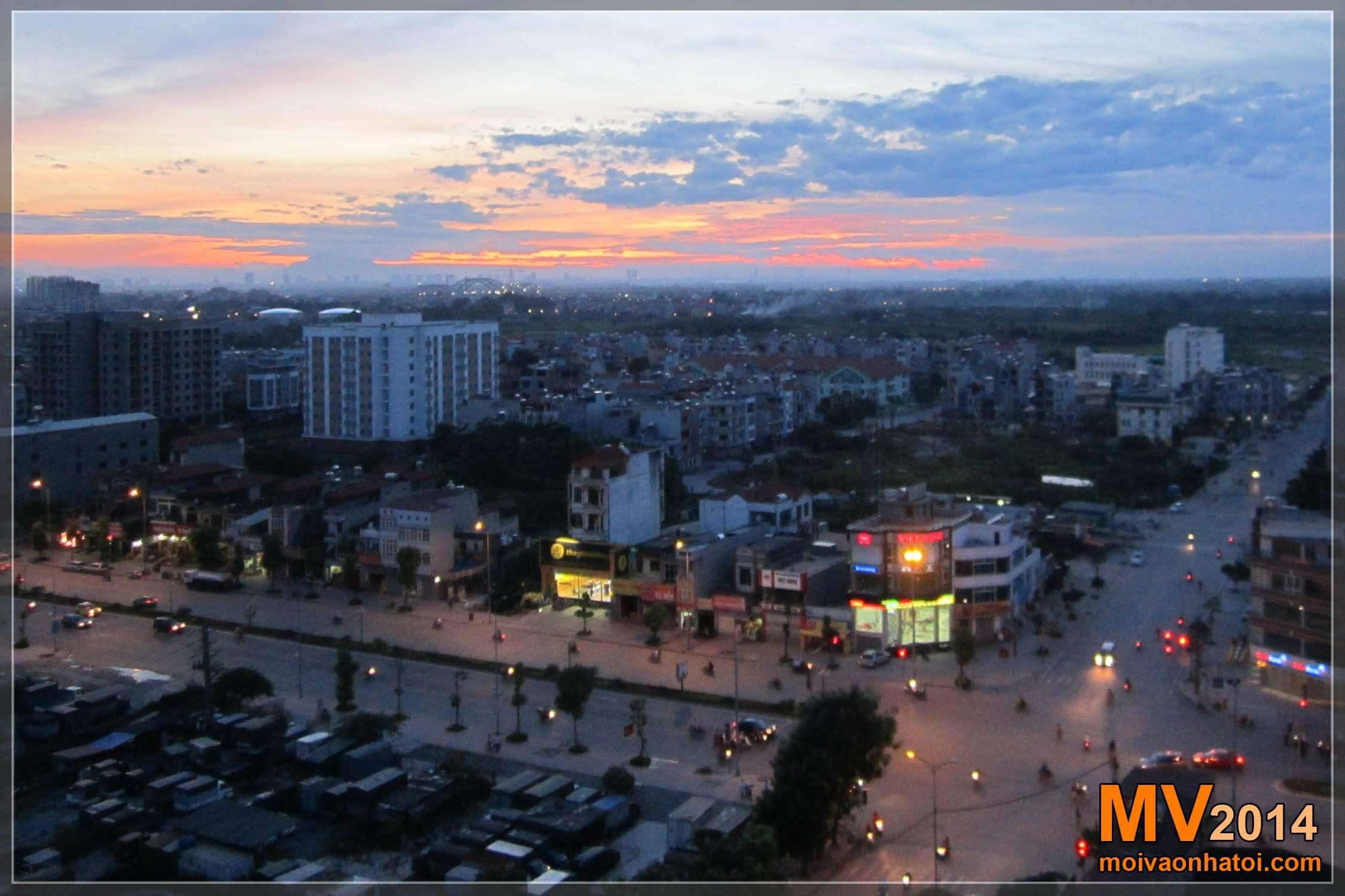 Hình ảnh đường Ngô Gia Tự buổi chiều nhìn từ căn hộ chung cư Việt Hưng H3