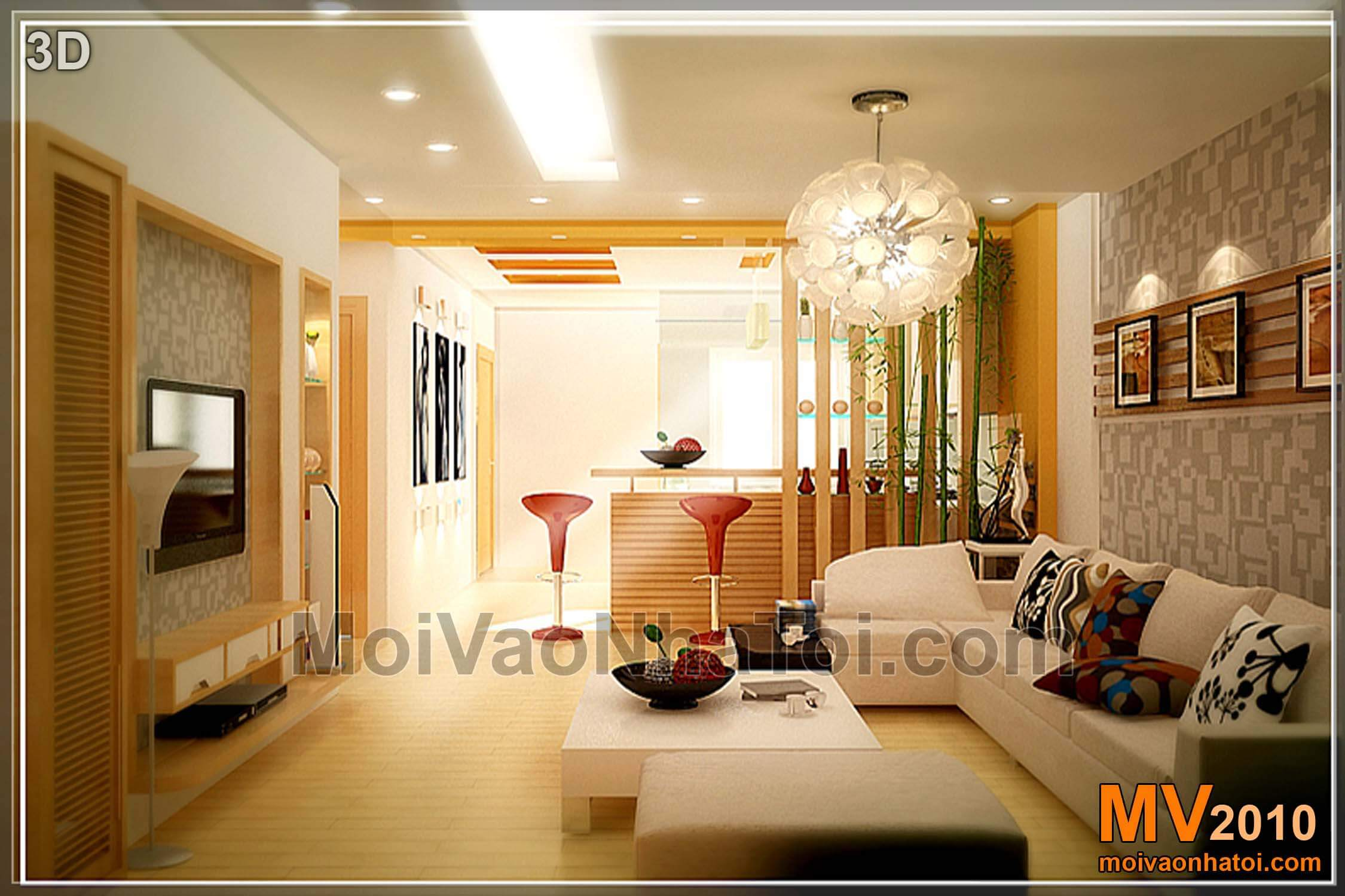 Thiết kế chung cư Việt Hưng đẹp nổi bật sau khi sửa