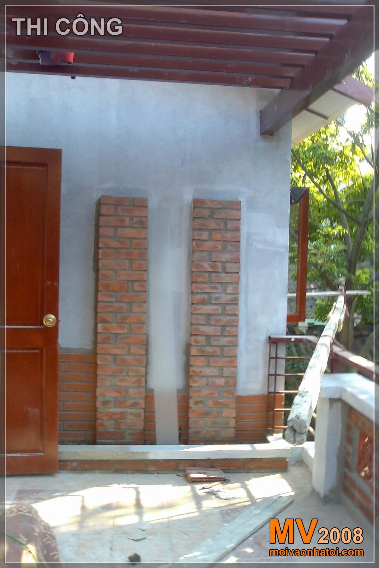 Quá trình thi công sân vườn tầng 2 biệt thự