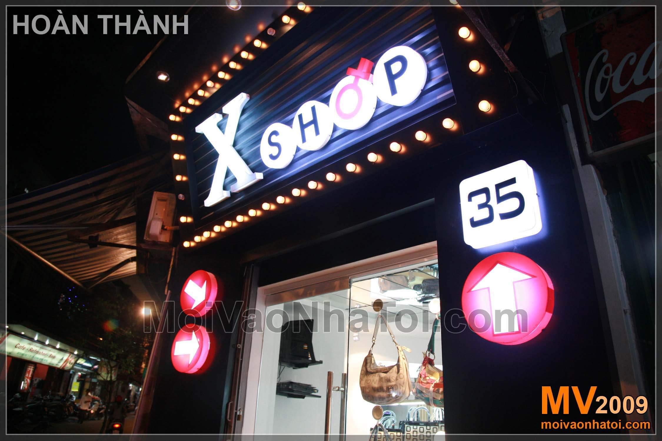 Thiết kế cửa hàng thời trang X-Shop