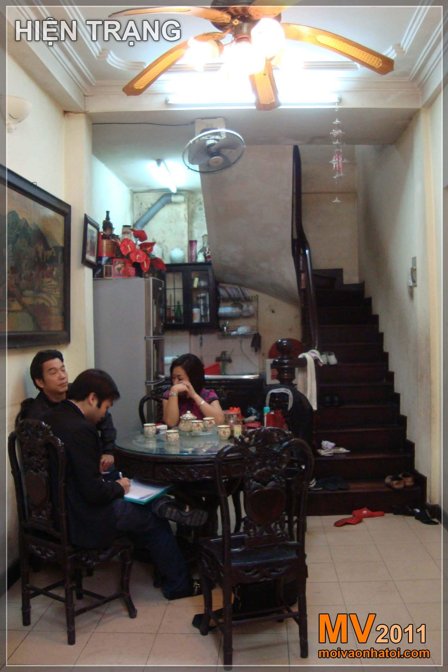 Hình ảnh từ Hiện trạng - Thi công - Hoàn thiện nội thất căn nhà phố