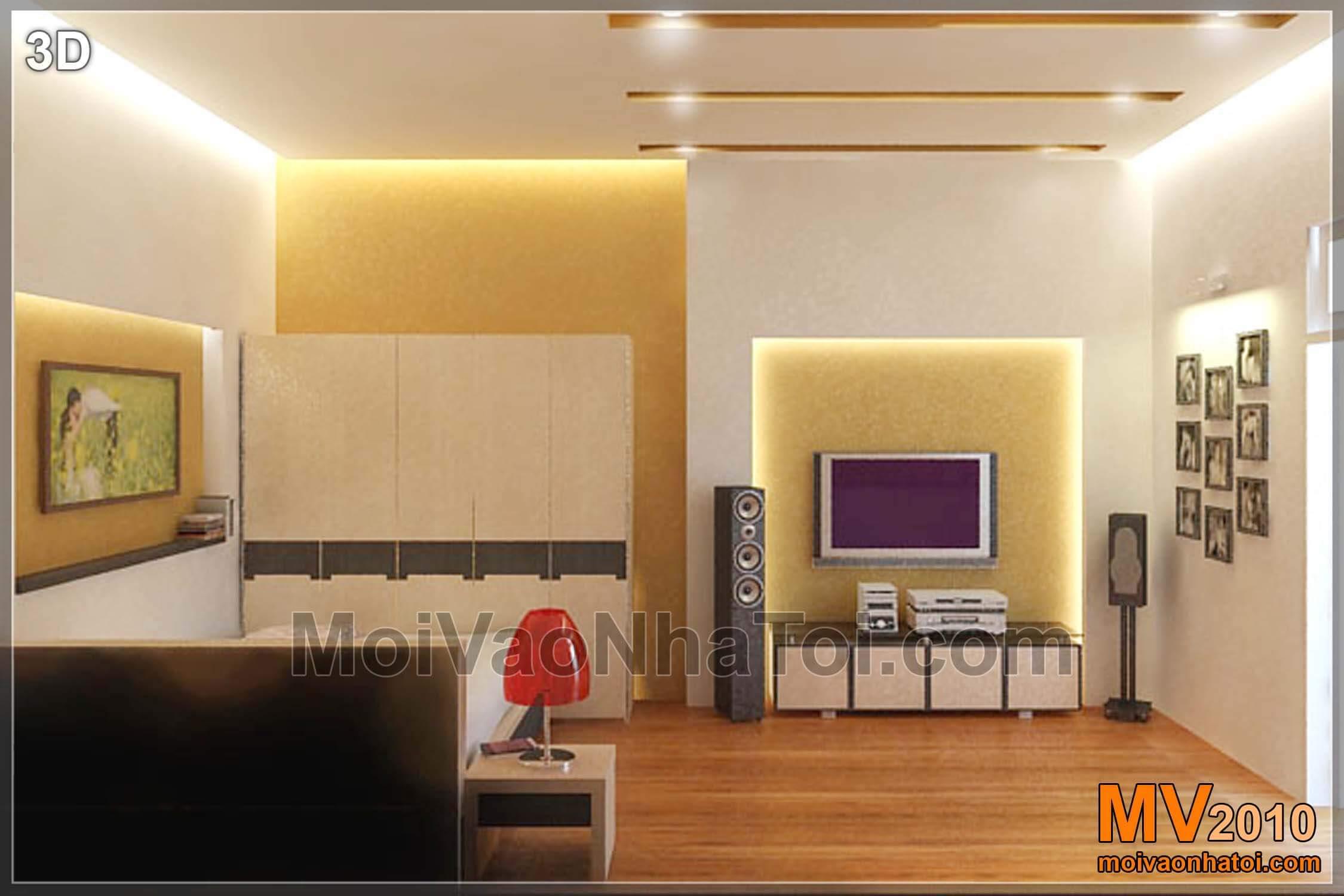Thiết kế phòng ngủ nhỏ 17m2 tiết kiệm không gian với sàn ngồi kiểu Nhật