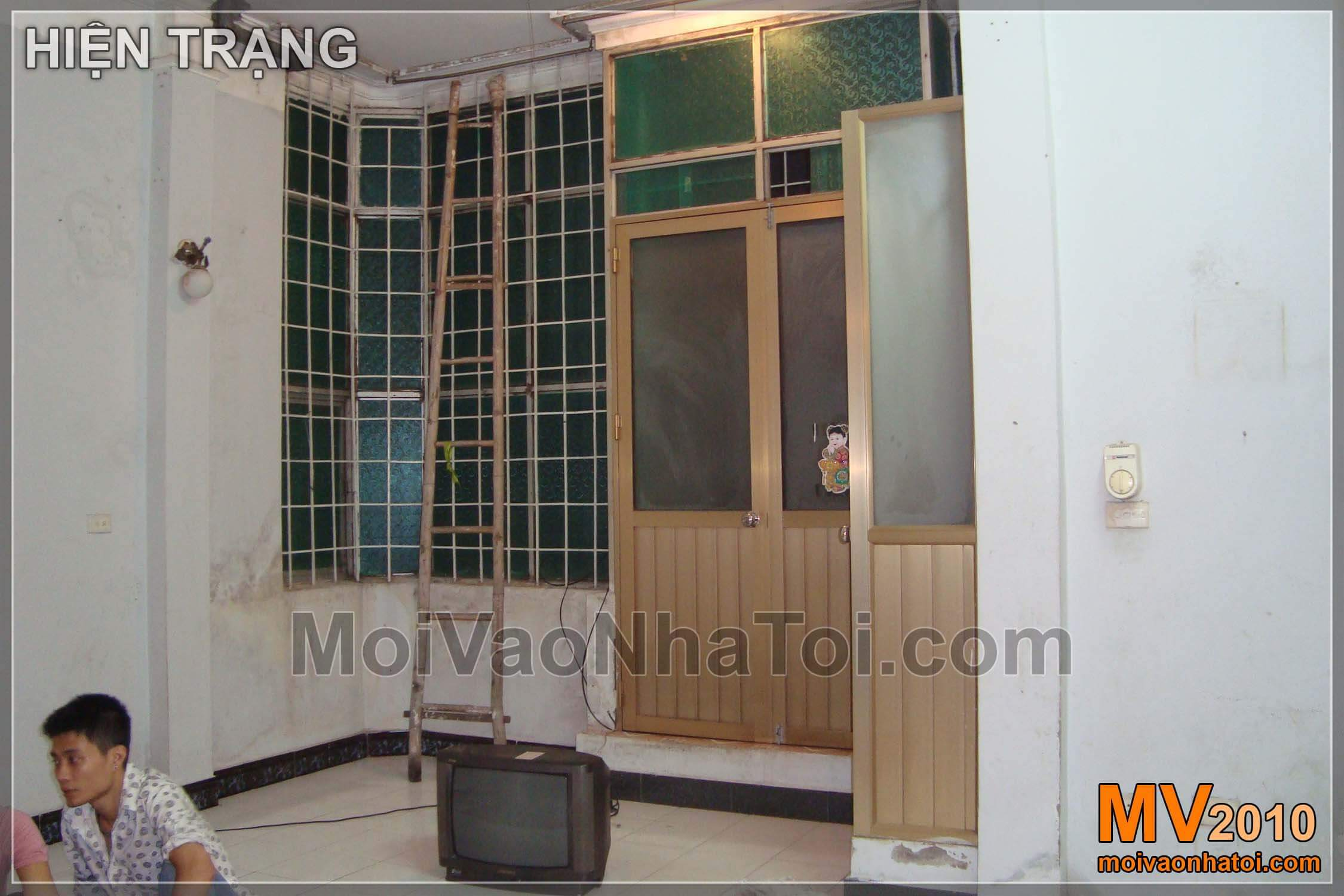 Hiện trạng căn nhà - nội thất phòng ngủ khi chưa cải tạo