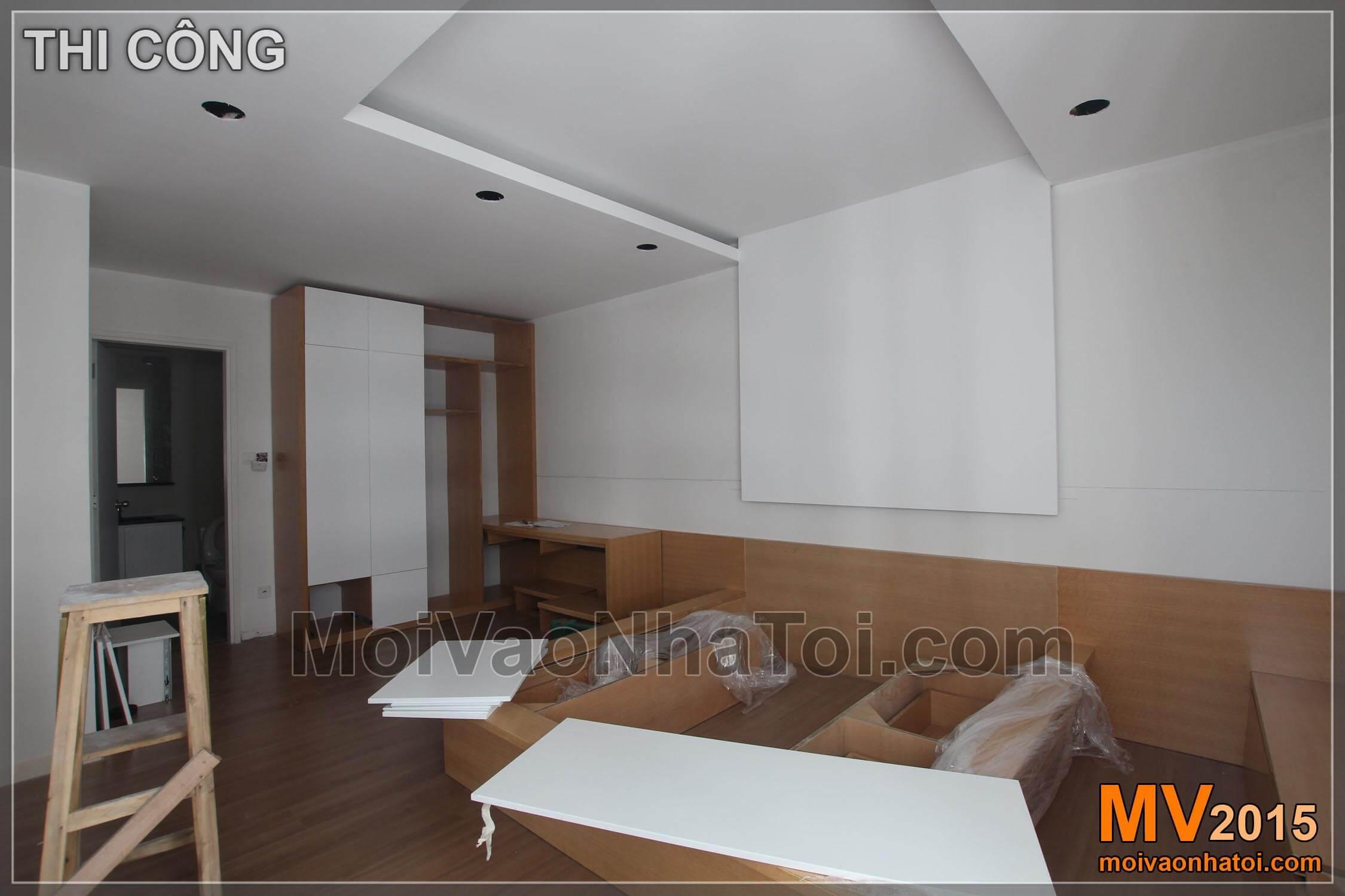 Quá trình lắp đặt đồ gỗ nội thất phòng ngủ