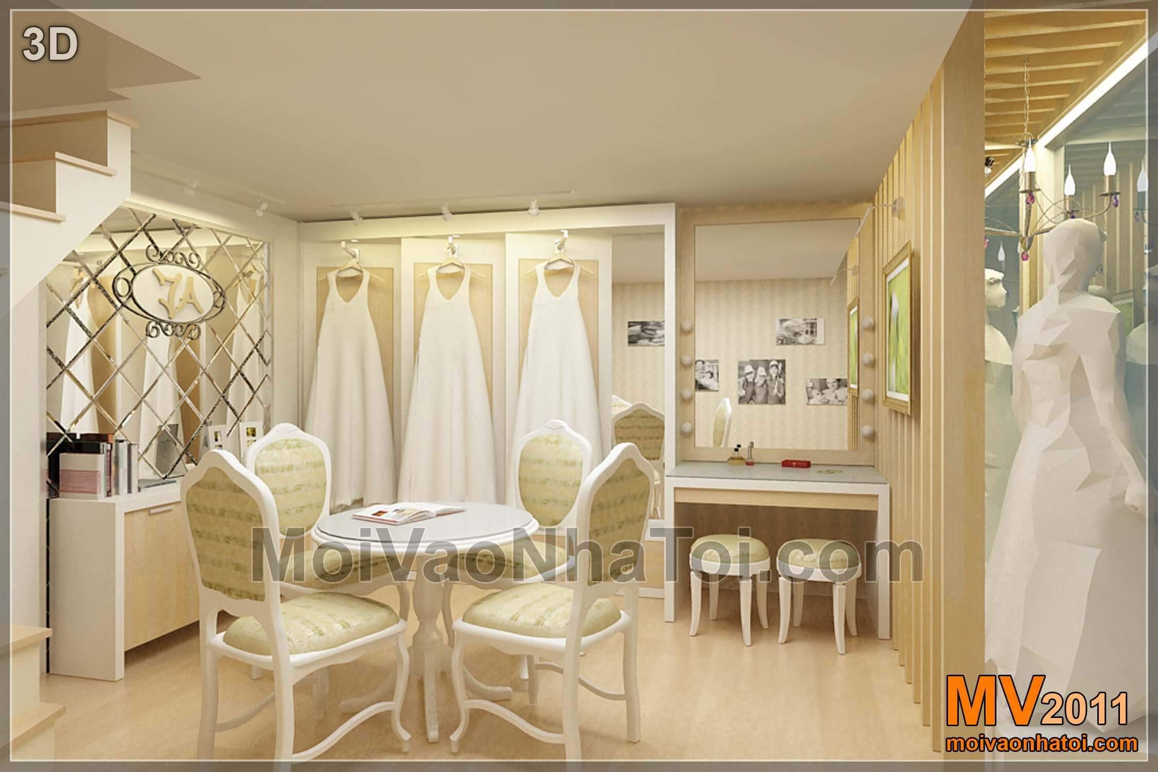 JA studio hiện trạng và thiết kế 3D studio áo cưới