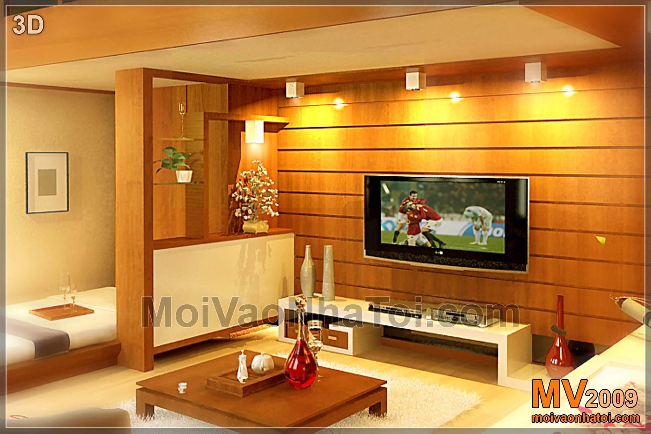 Thiết kế phòng khách nhỏ đa năng 21m2 trên phố cổ Hàng Trống