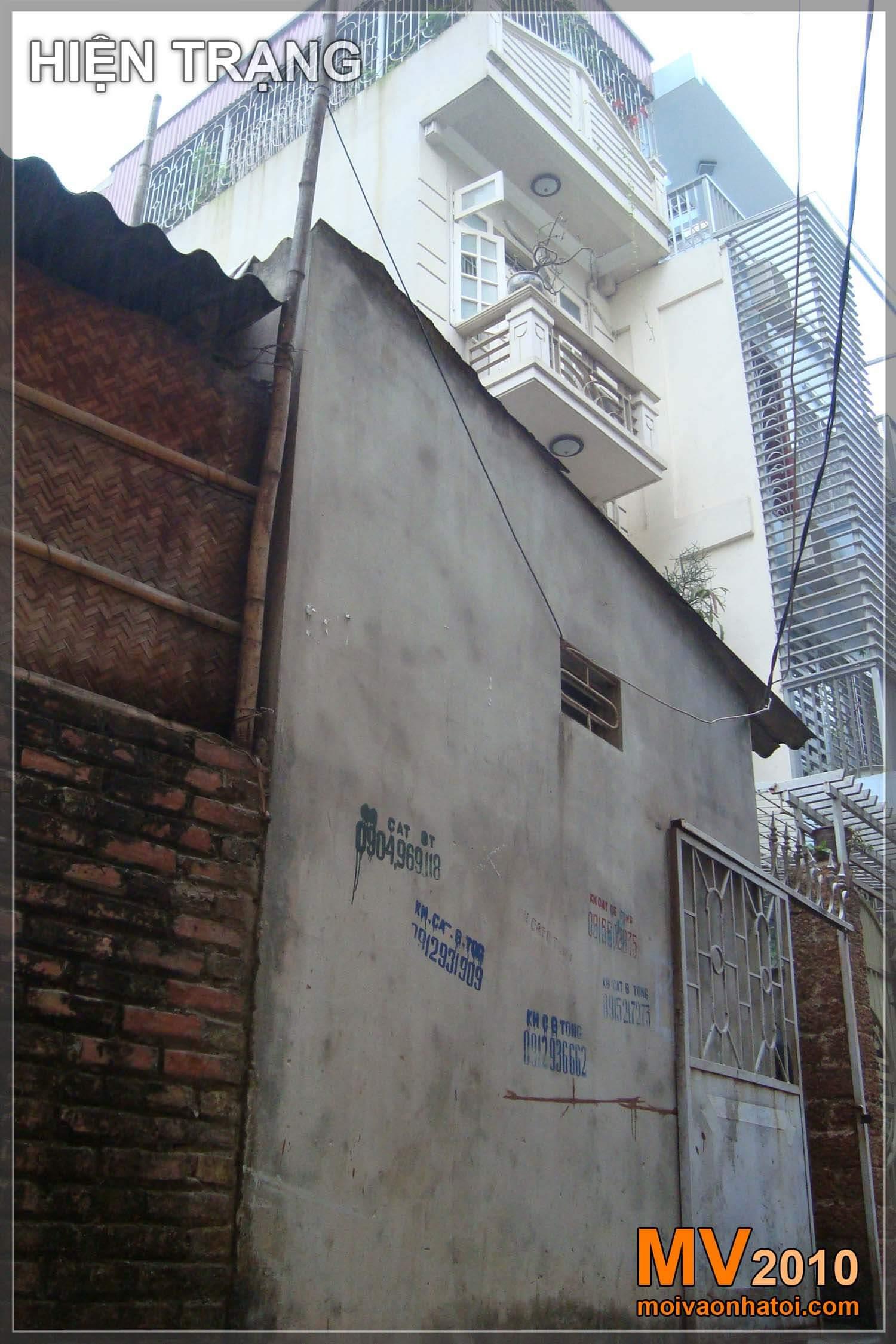Ảnh hiện trạng đến nhà phố 3 tầng khi hoàn thành